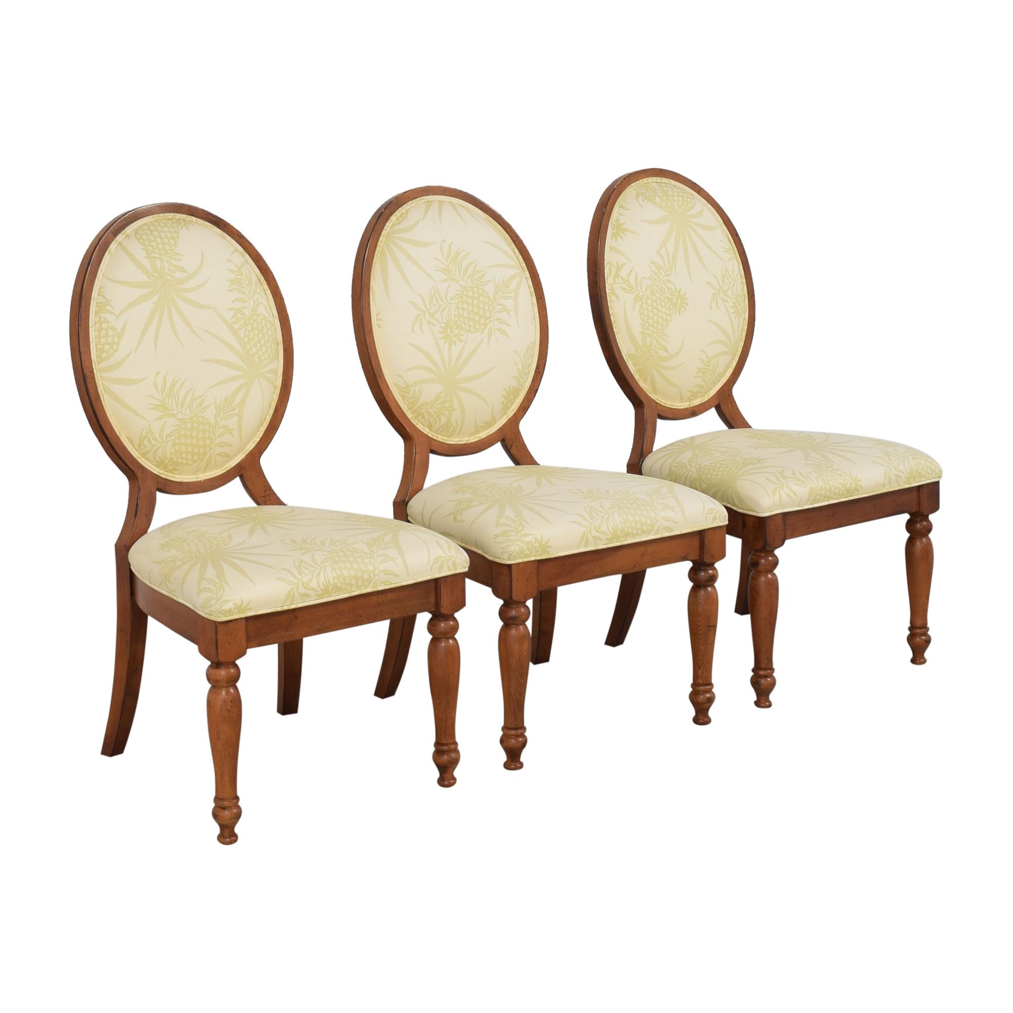 Lexington Furniture Lexington Furniture Oval Back Dining Chairs brown & beige