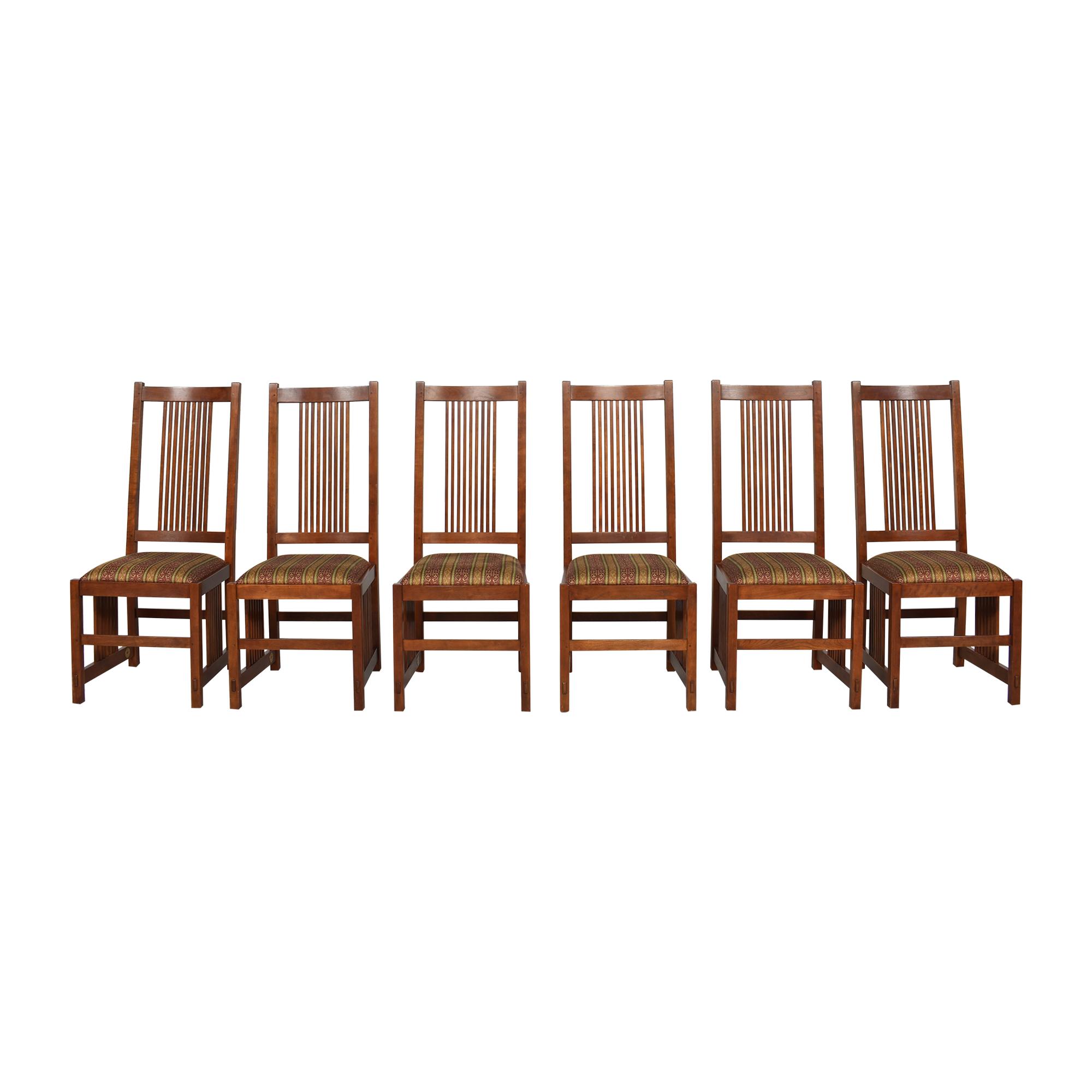 shop Stickley Furniture Spindle Dining Side Chairs Stickley Furniture Dining Chairs