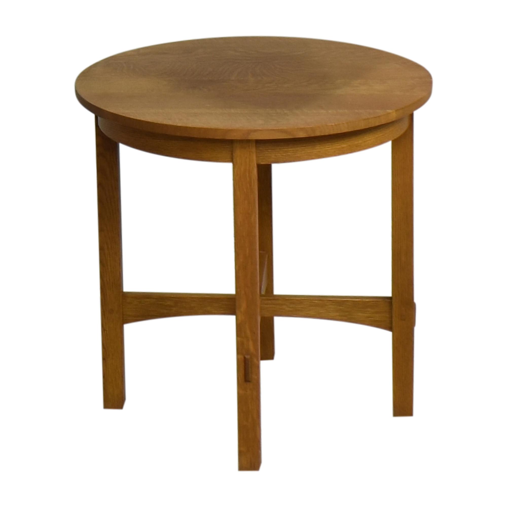 shop Stickley Furniture Round Side Table Stickley Furniture