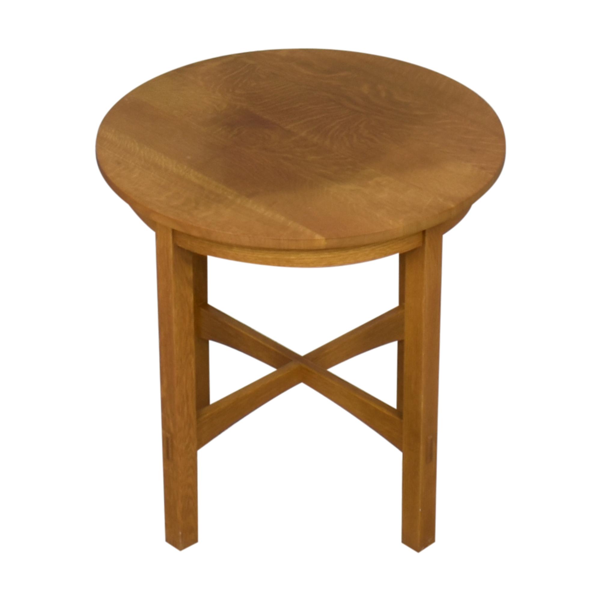 shop Stickley Furniture Round Side Table Stickley Furniture Tables