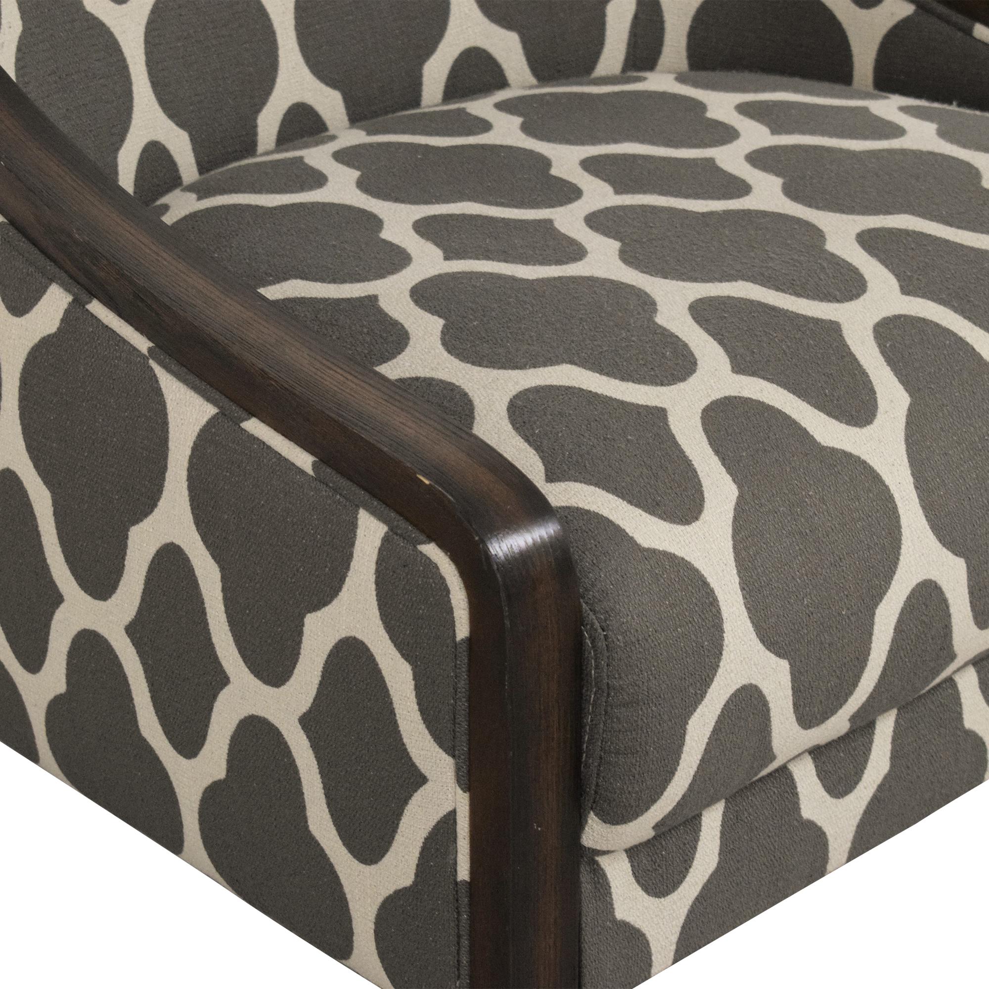 Macy's Macy's Quatrefoil Accent Chair dimensions