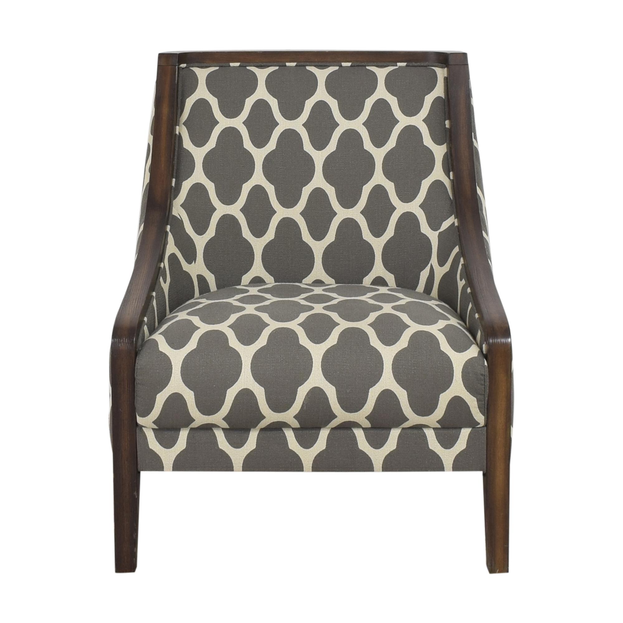 Macy's Macy's Quatrefoil Accent Chair for sale