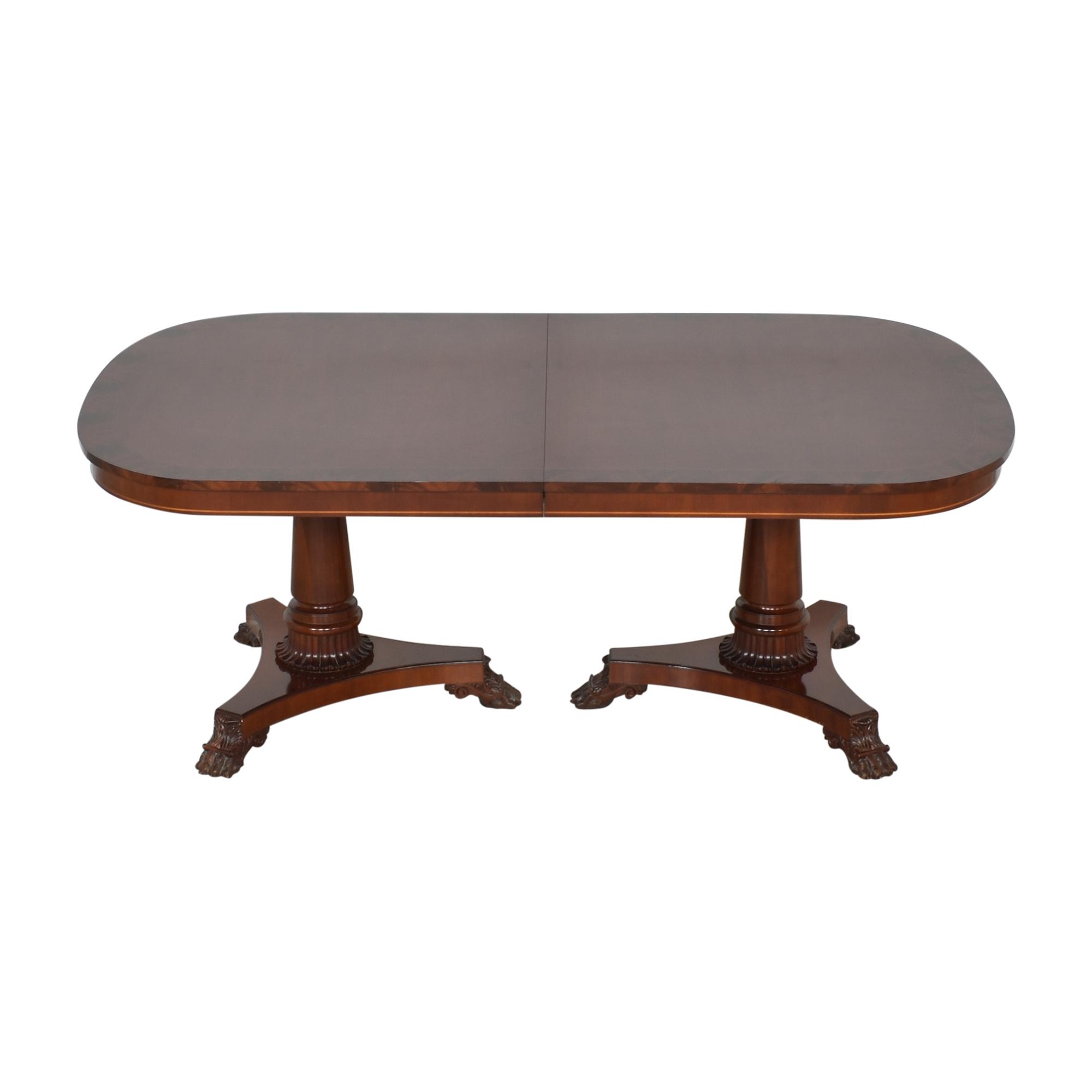buy Kindel Extendable Double Pedestal Dining Table Kindel Tables