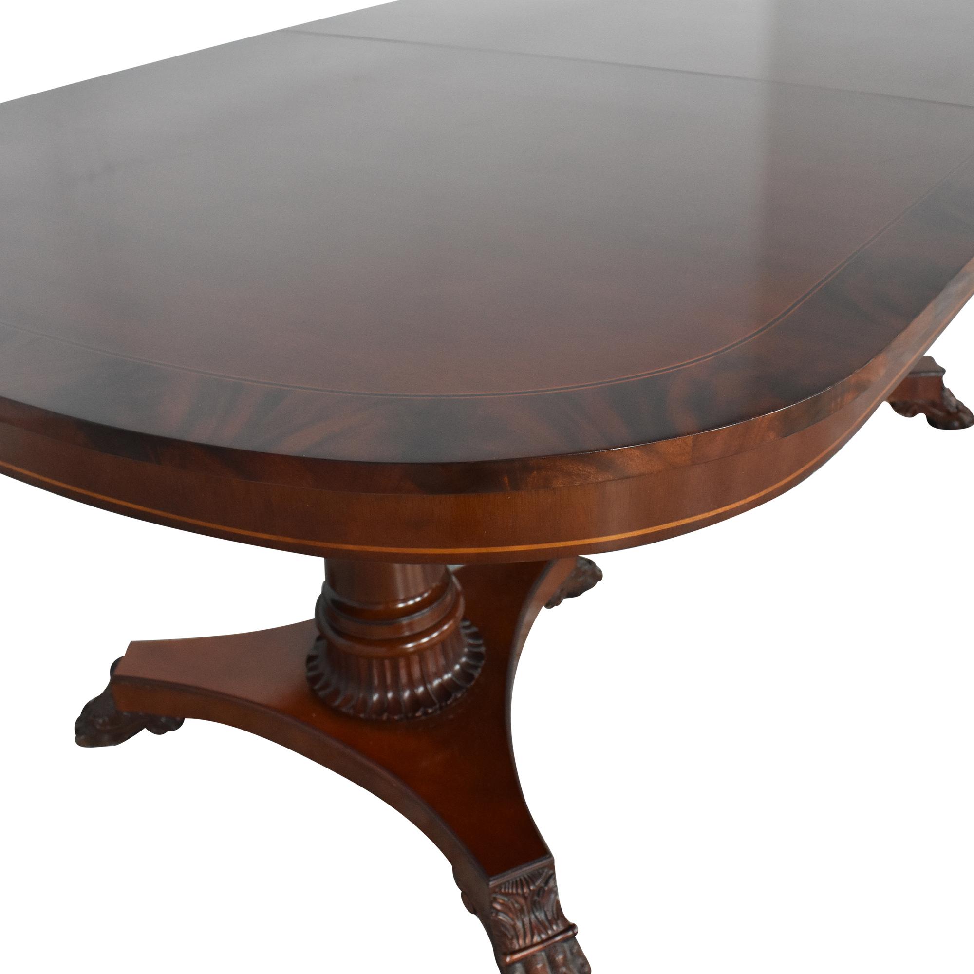 Kindel Kindel Extendable Double Pedestal Dining Table second hand