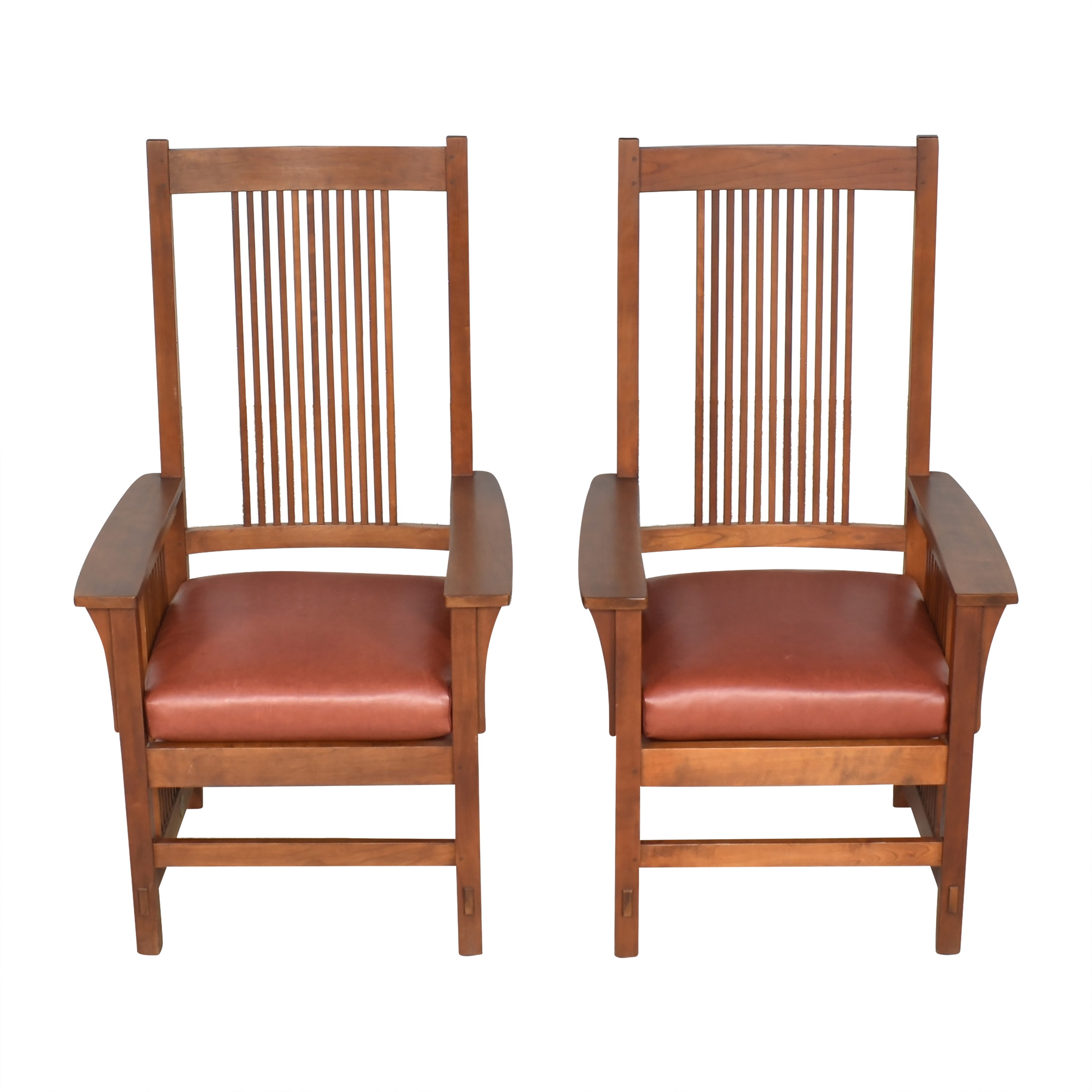 Stickley Furniture Stickley Spindle Dining Arm Chairs dimensions