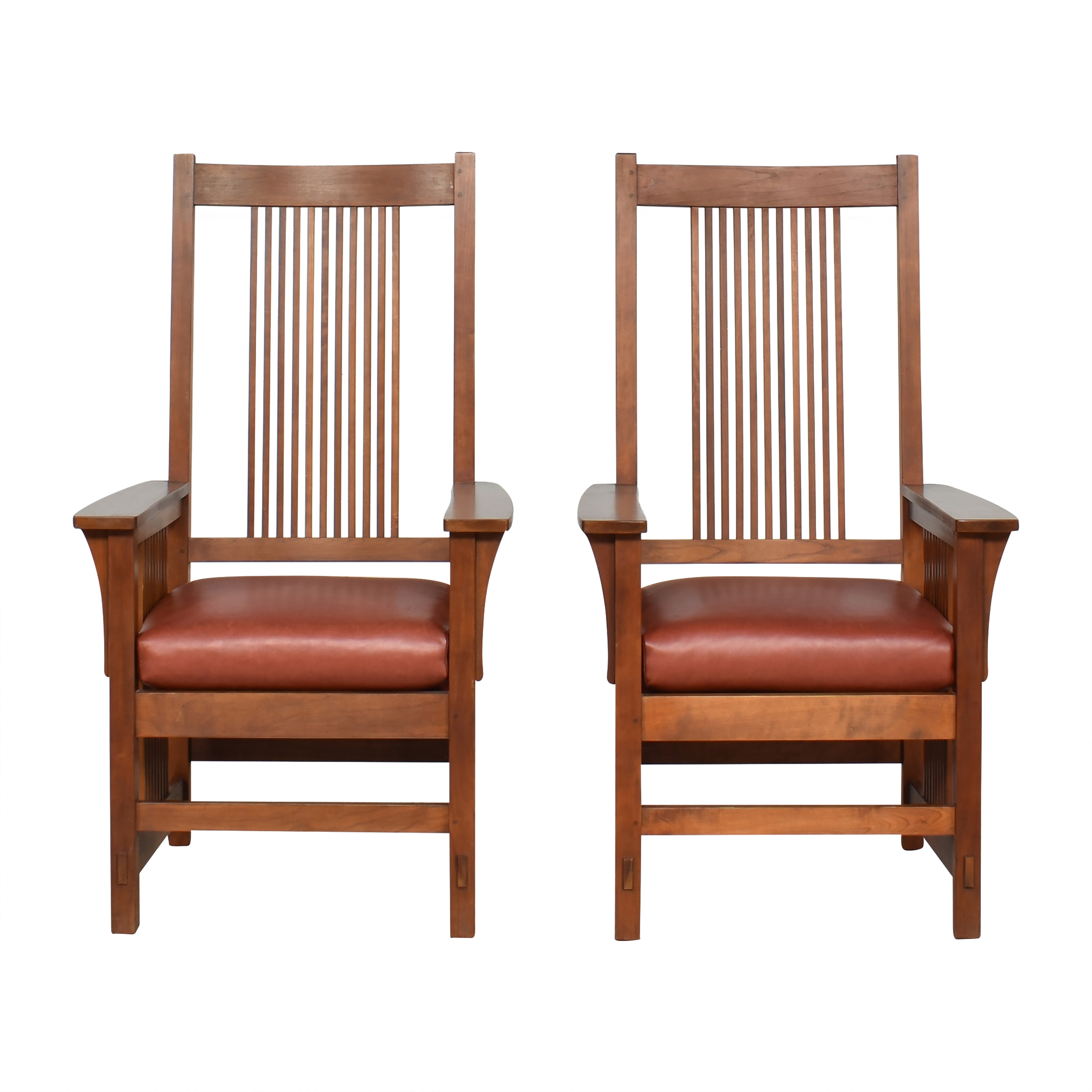shop Stickley Spindle Dining Arm Chairs Stickley Furniture