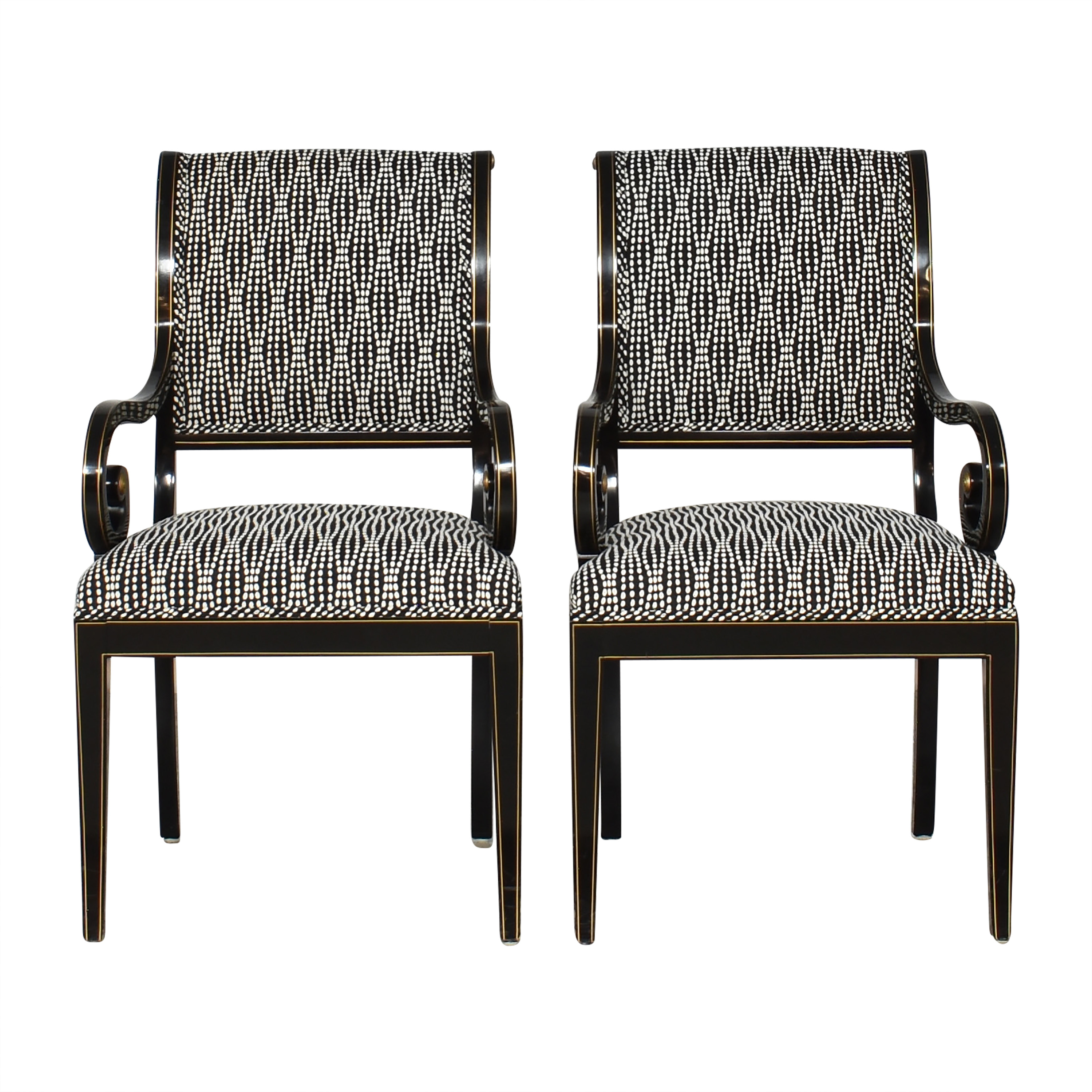 Kindel Upholstered Dining Arm Chairs sale