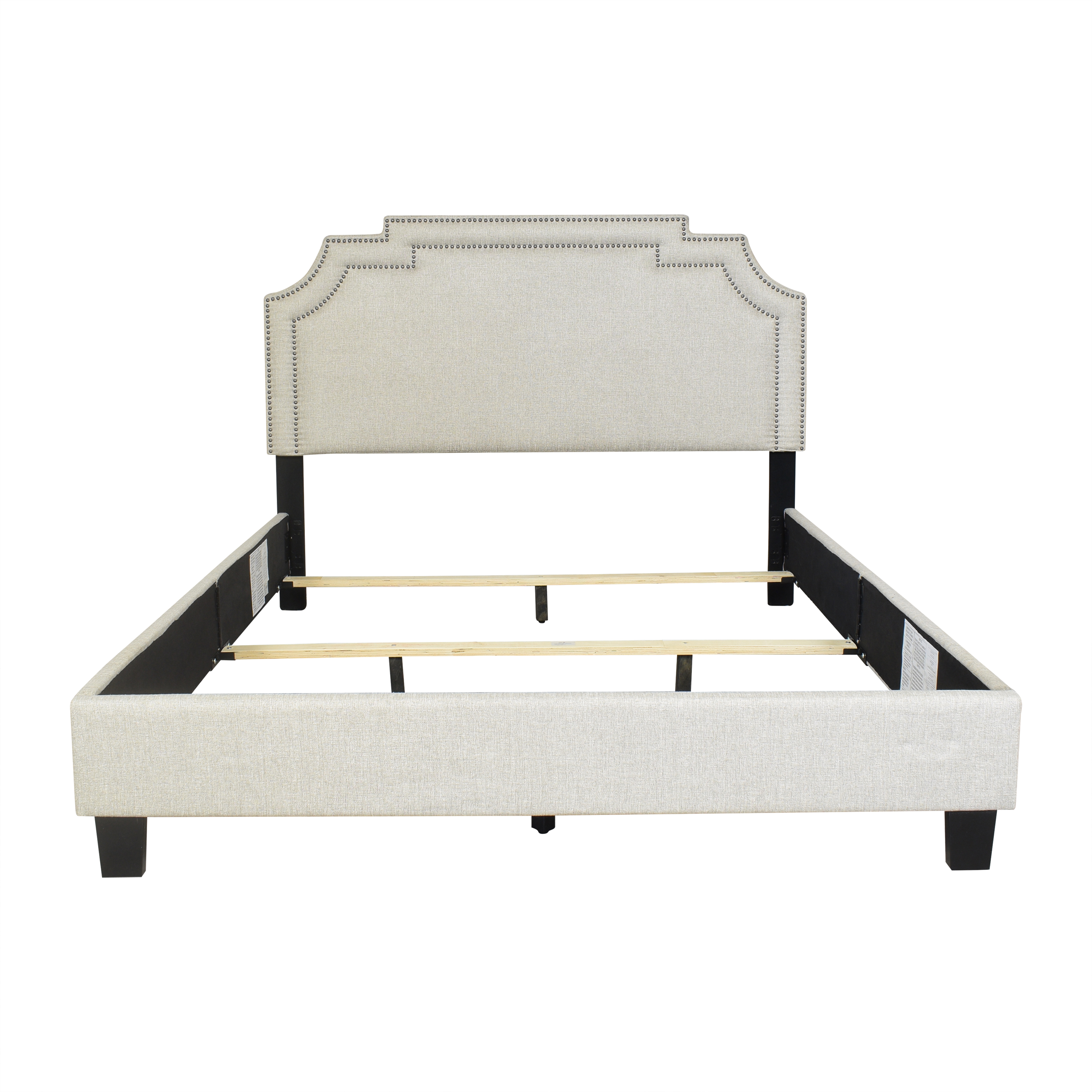 Home Meridian Home Meridian Nailhead Marquee Upholstered Queen Bed Beds