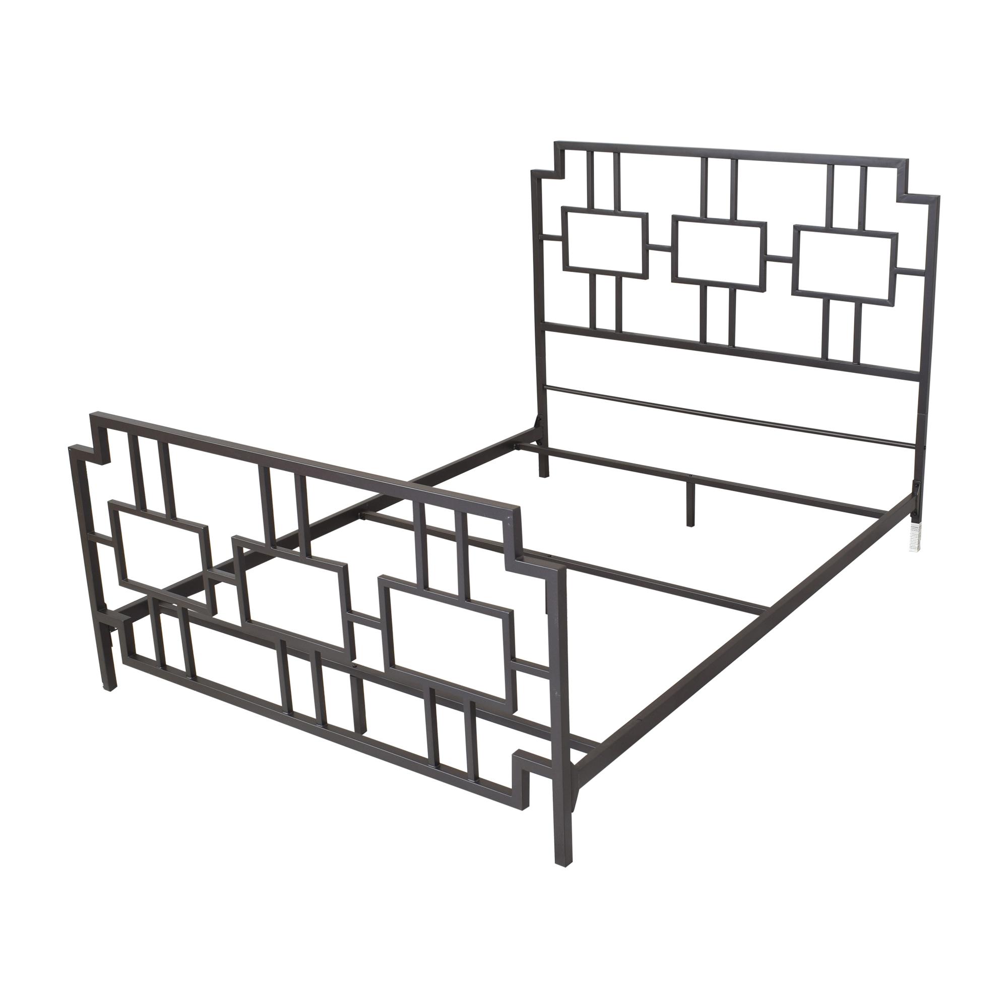 shop Wayfair Geometric Queen Bed Wayfair