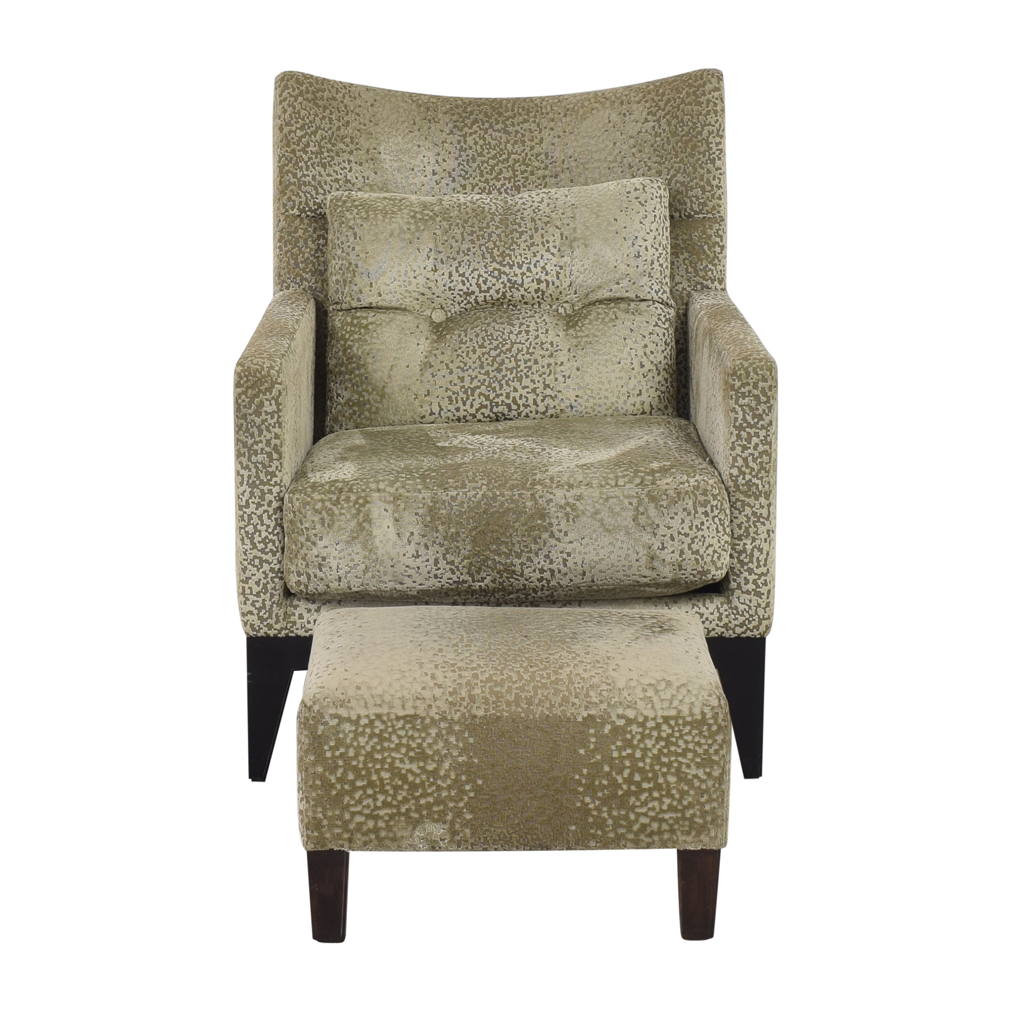 Accent Chair with Ottoman used