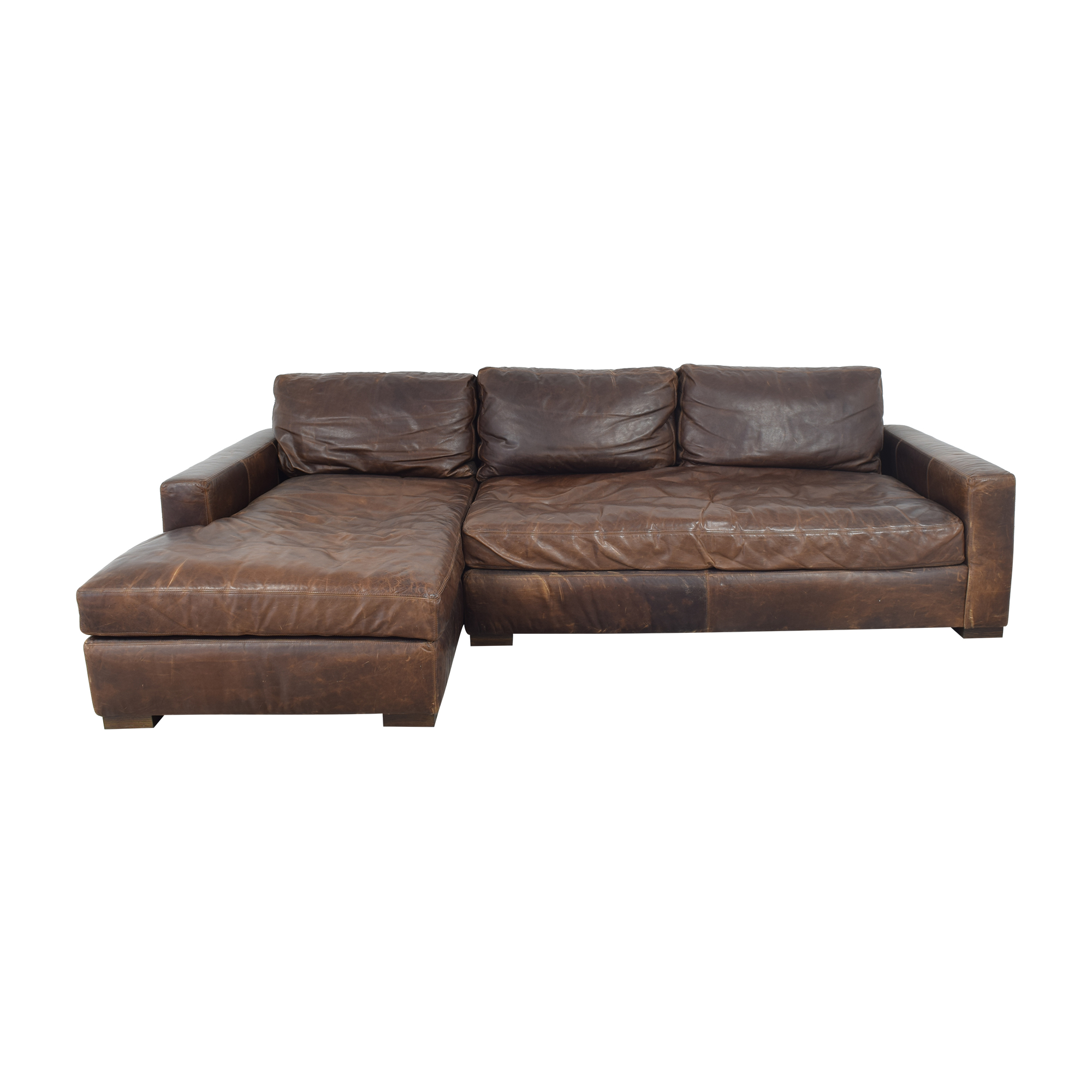 Restoration Hardware Restoration Hardware Maxwell Chaise Bench-Seat Sectional pa