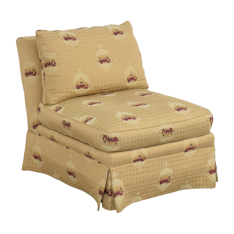 shop Sherrill Brand Skirted Slipper Chair Sherrill Furniture