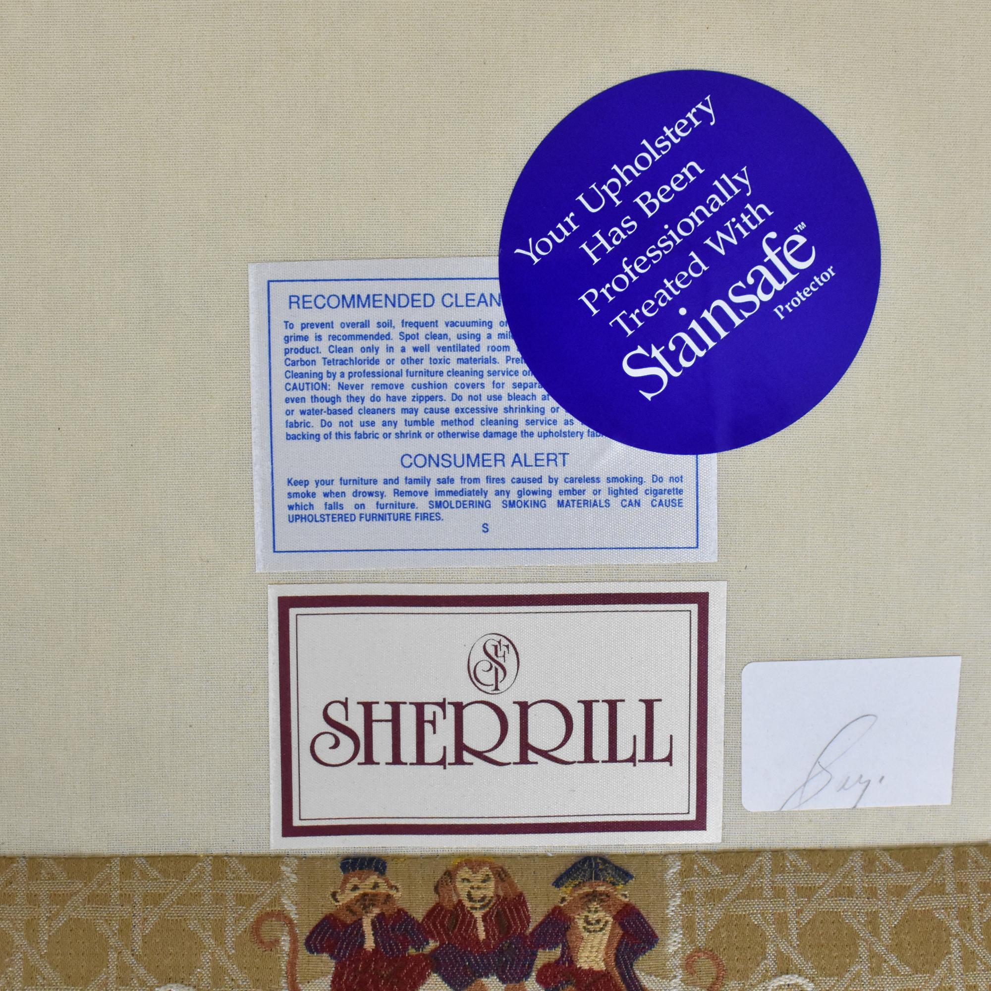 Sherrill Furniture Sherrill Brand Skirted Slipper Chair for sale