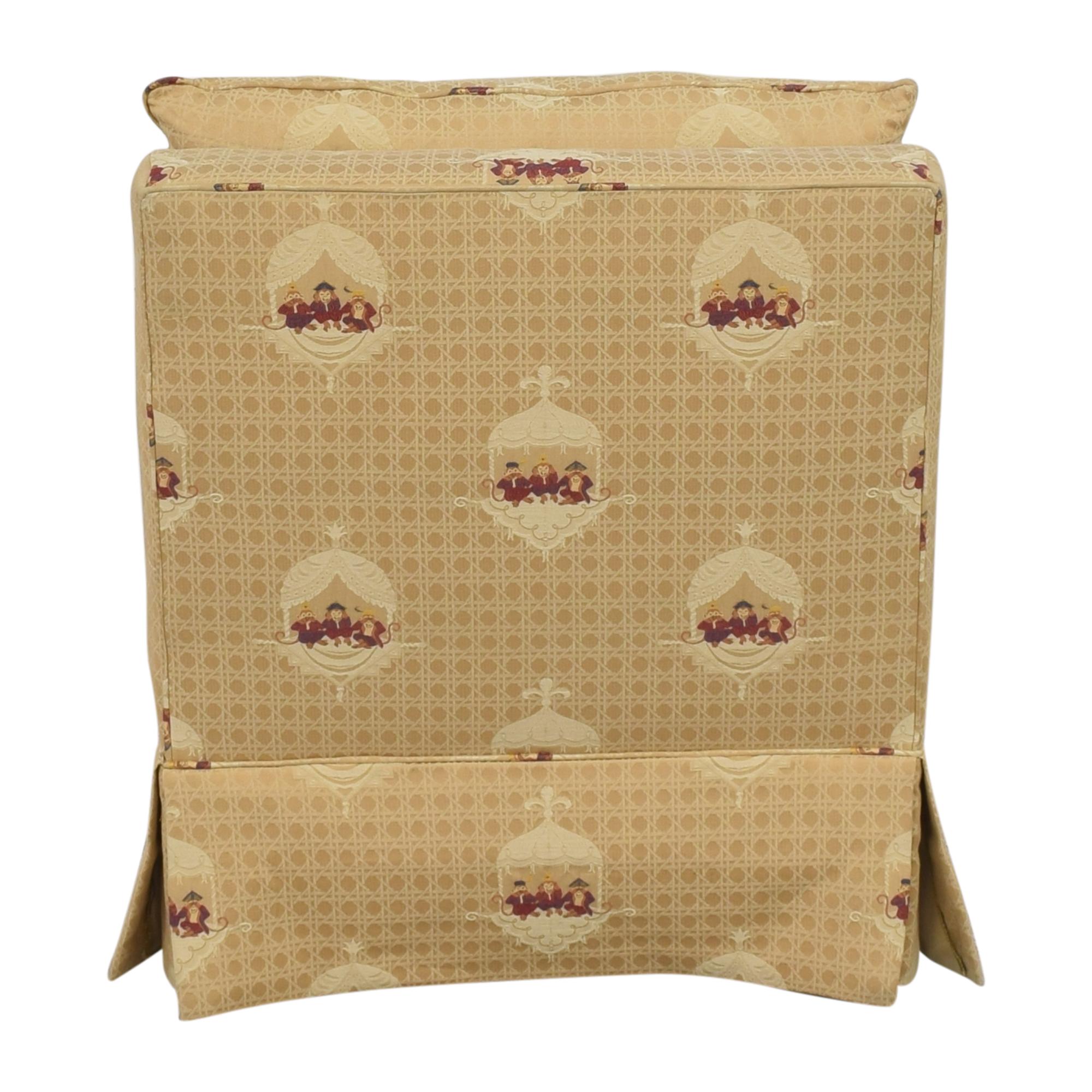 Sherrill Furniture Sherrill Brand Skirted Slipper Chair dimensions