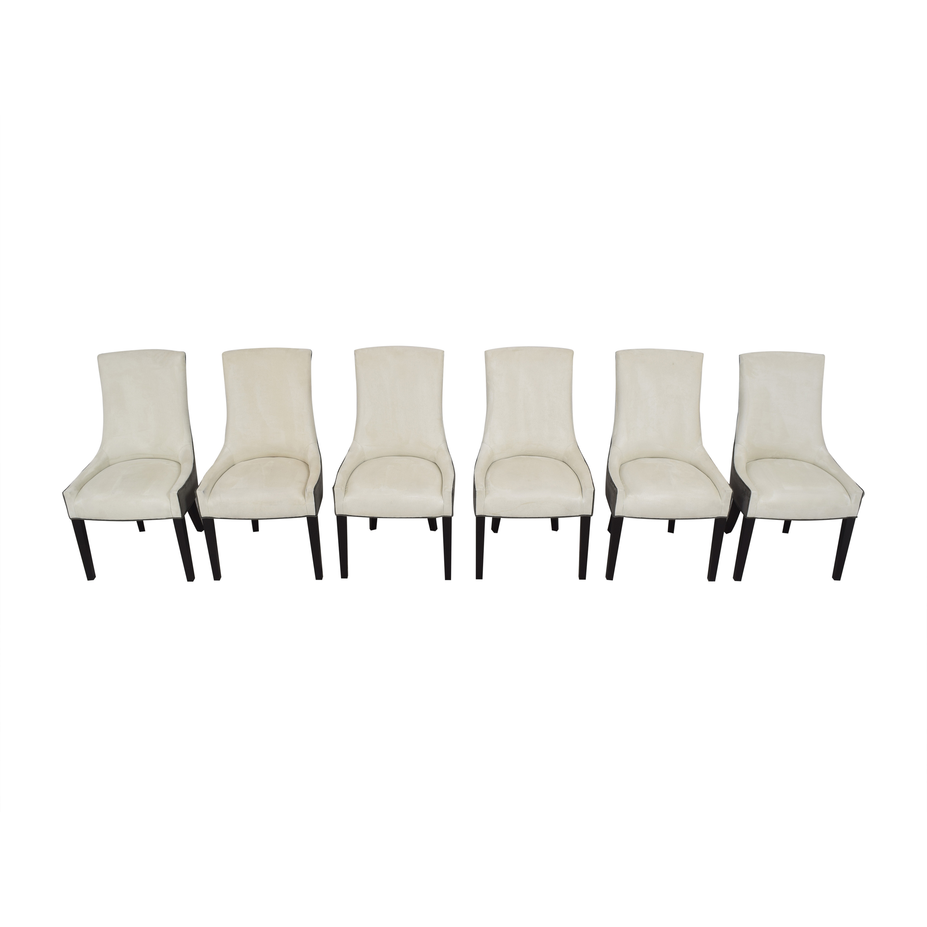 Mitchell Gold + Bob Williams Mitchell Gold + Bob Williams Ada Side Dining Chairs off white and dark gray