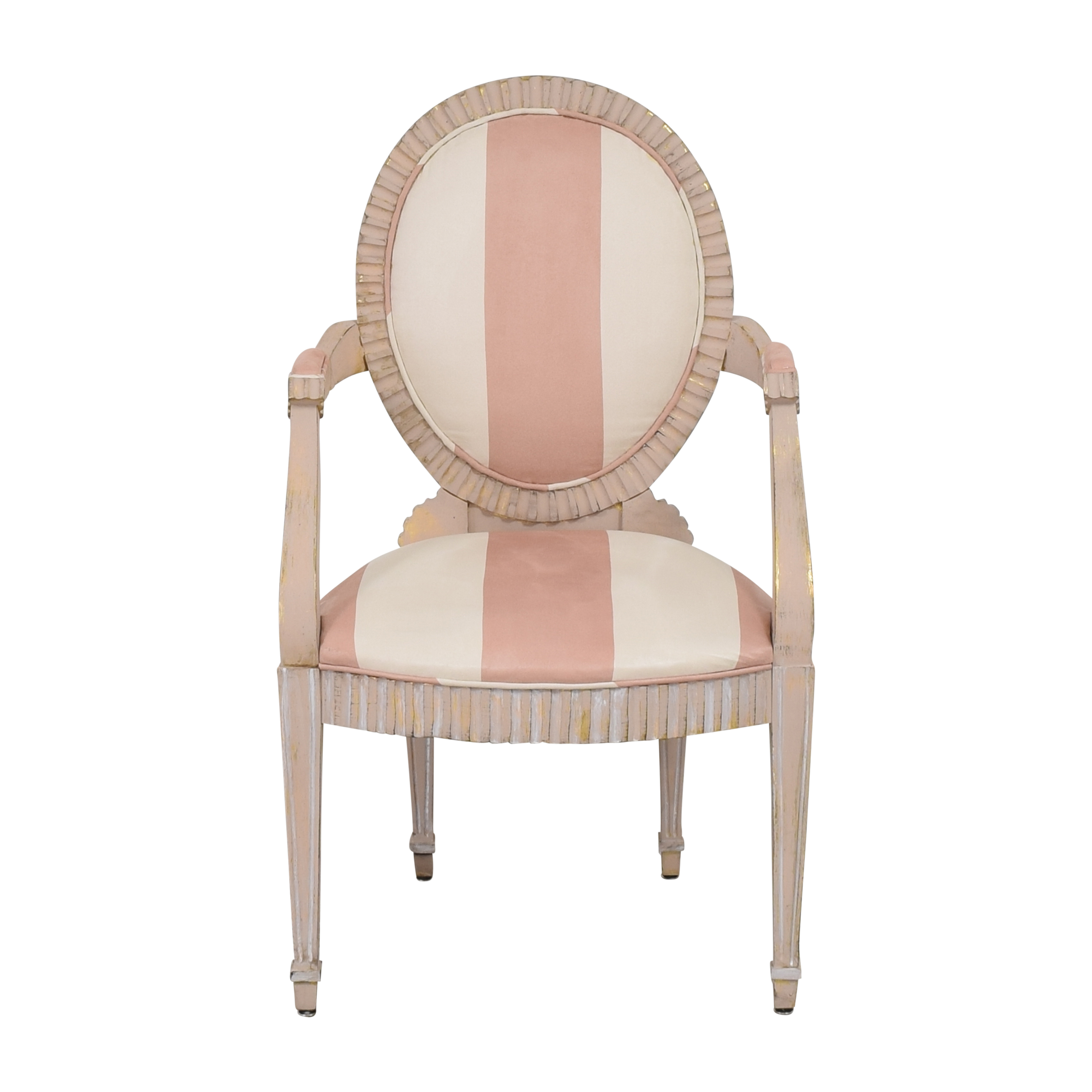 Striped French-Style Accent Chair discount