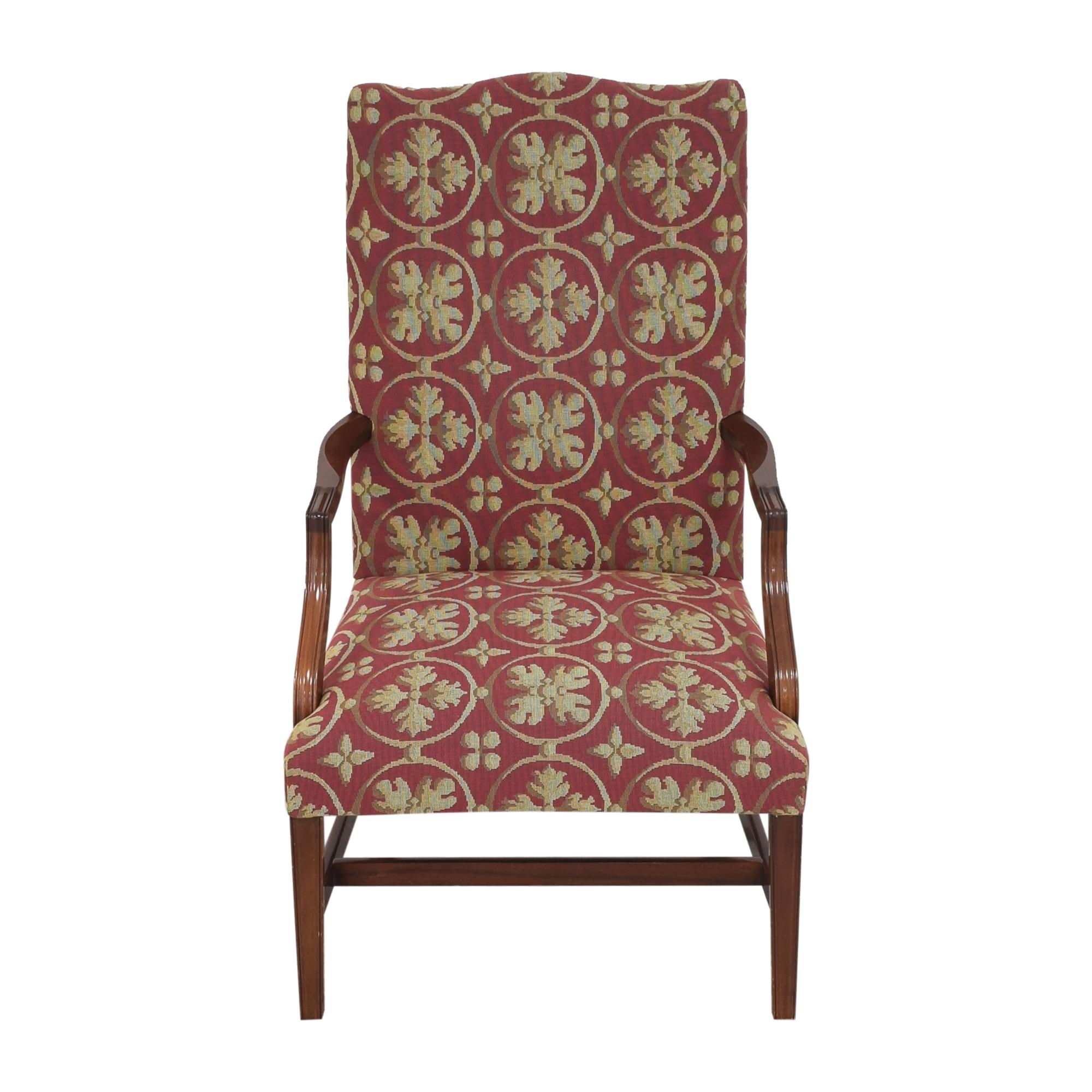 Custom Camelback Armchair for sale