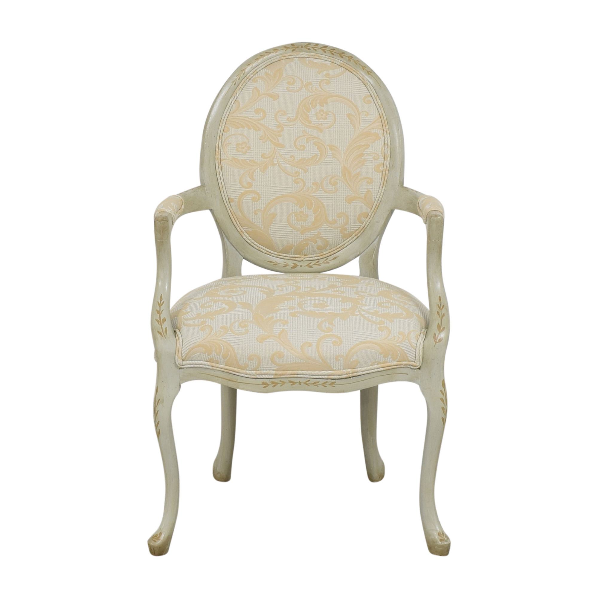 French-Style Round Back Arm Chair Accent Chairs