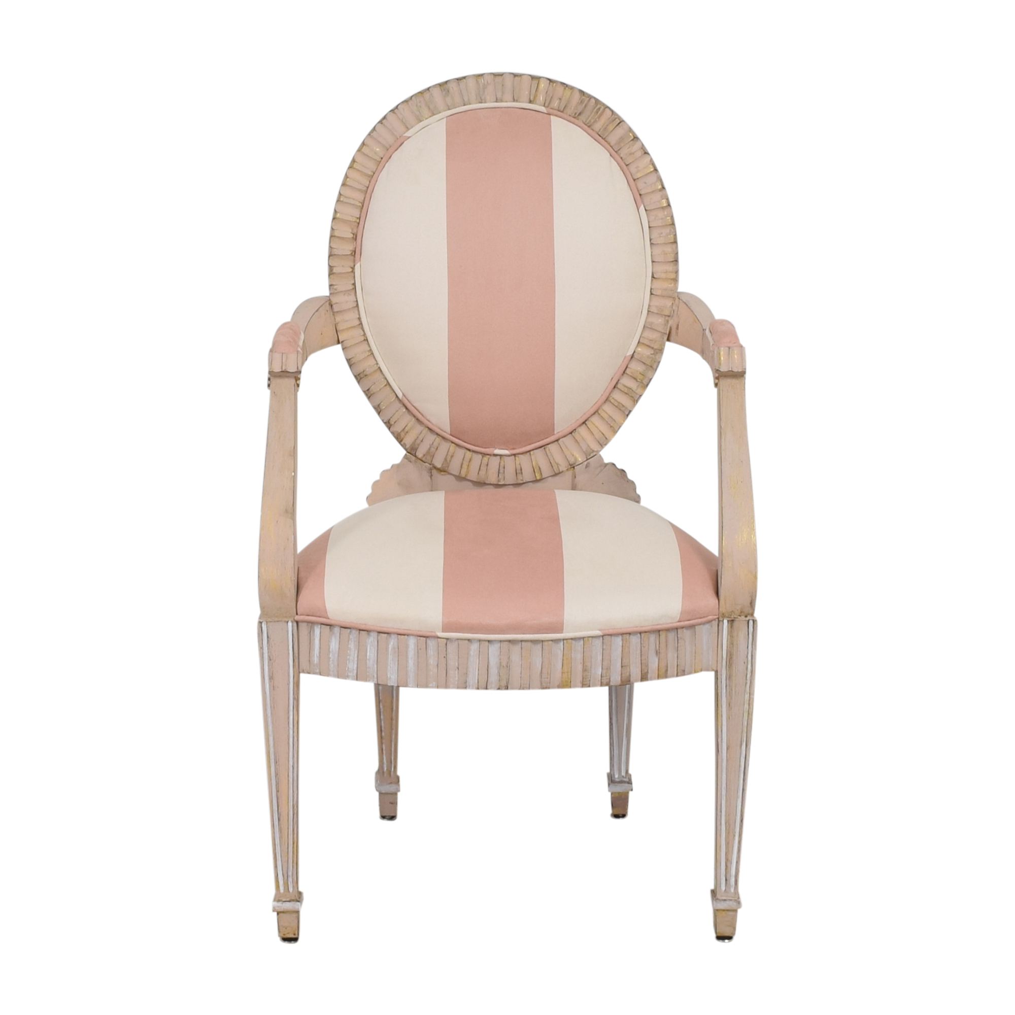 Striped French-Style Accent Chair pa