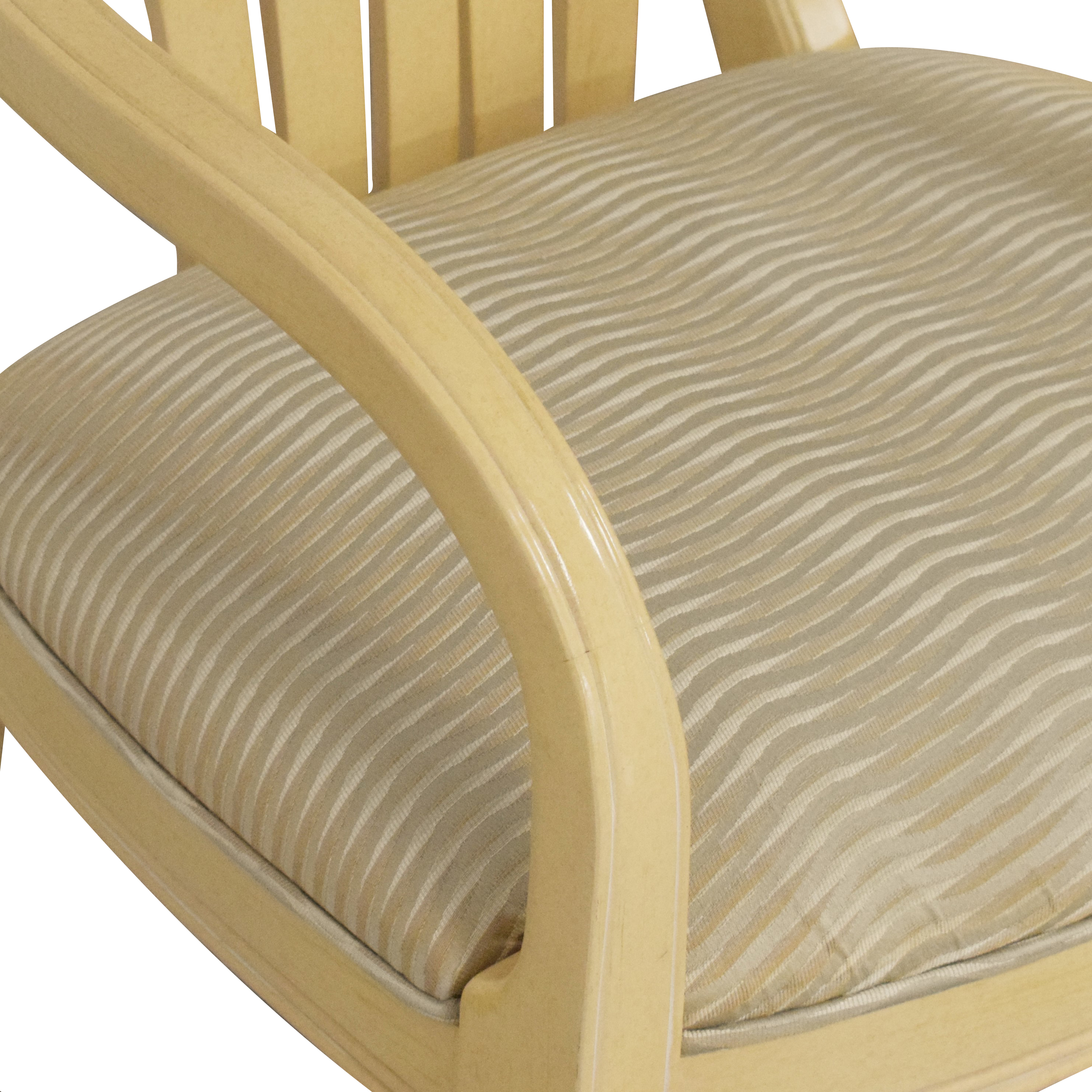 Century Furniture Century Furniture Upholstered Dining Chairs cream and beige