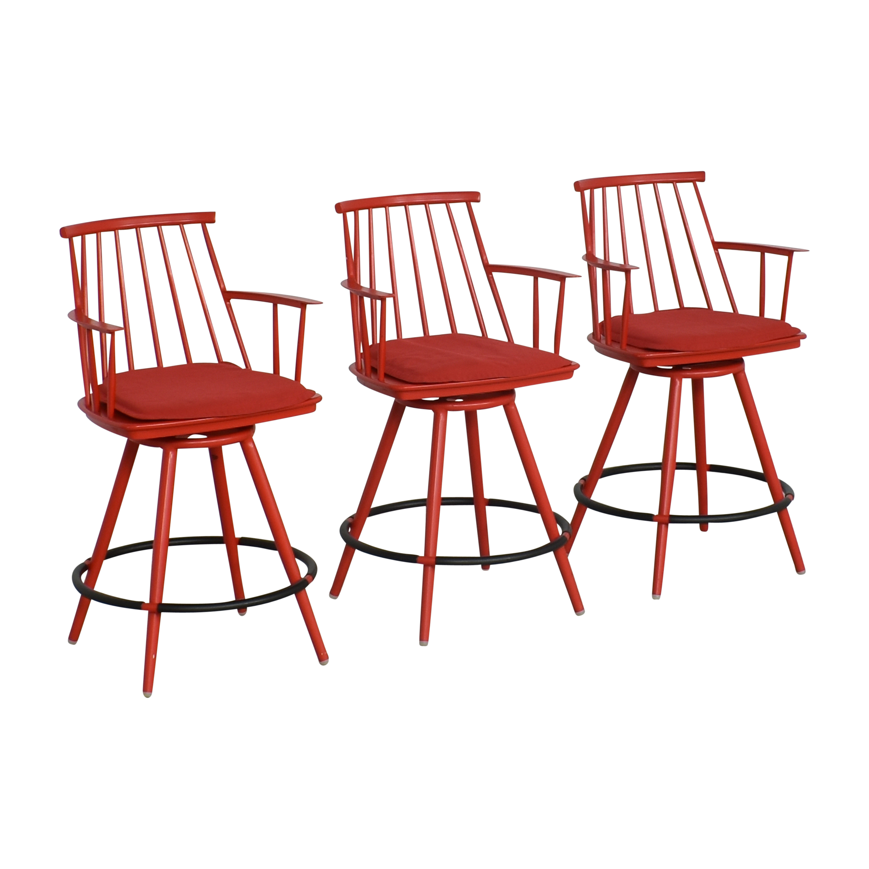 Crate & Barrel Union Swivel Counter Stools with Cushions / Chairs