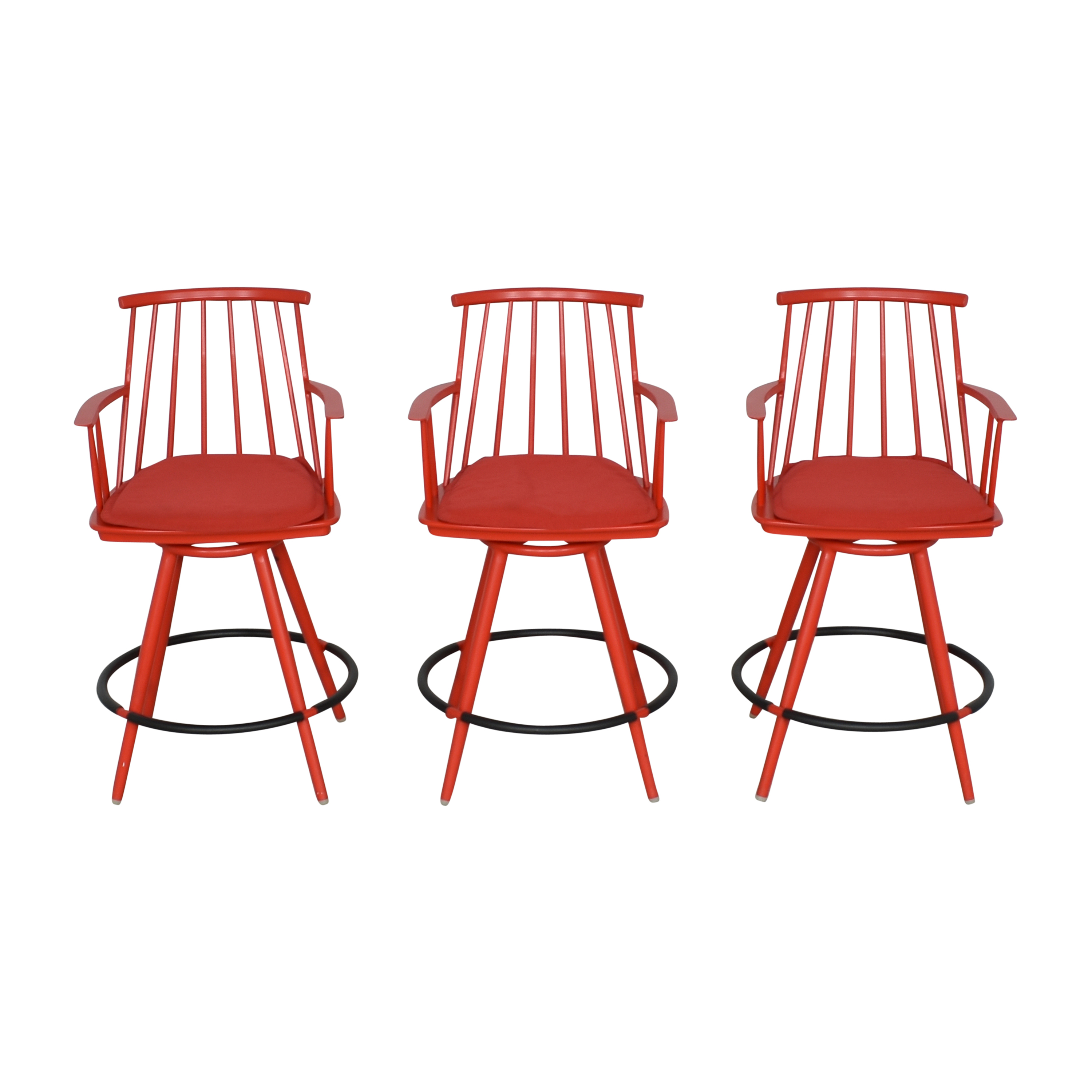 buy Crate & Barrel Crate & Barrel Union Swivel Counter Stools with Cushions online