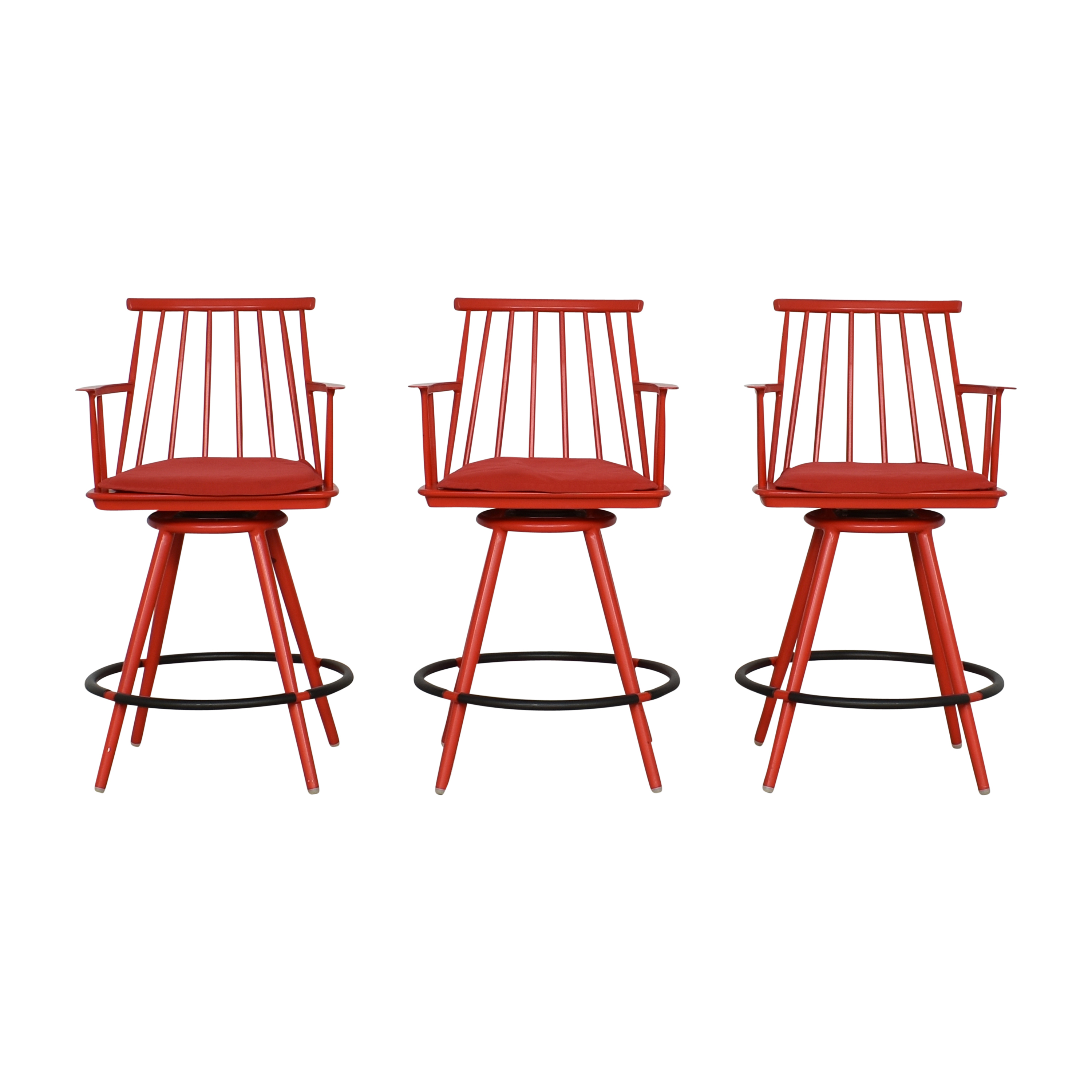 Crate & Barrel Crate & Barrel Union Swivel Counter Stools with Cushions on sale