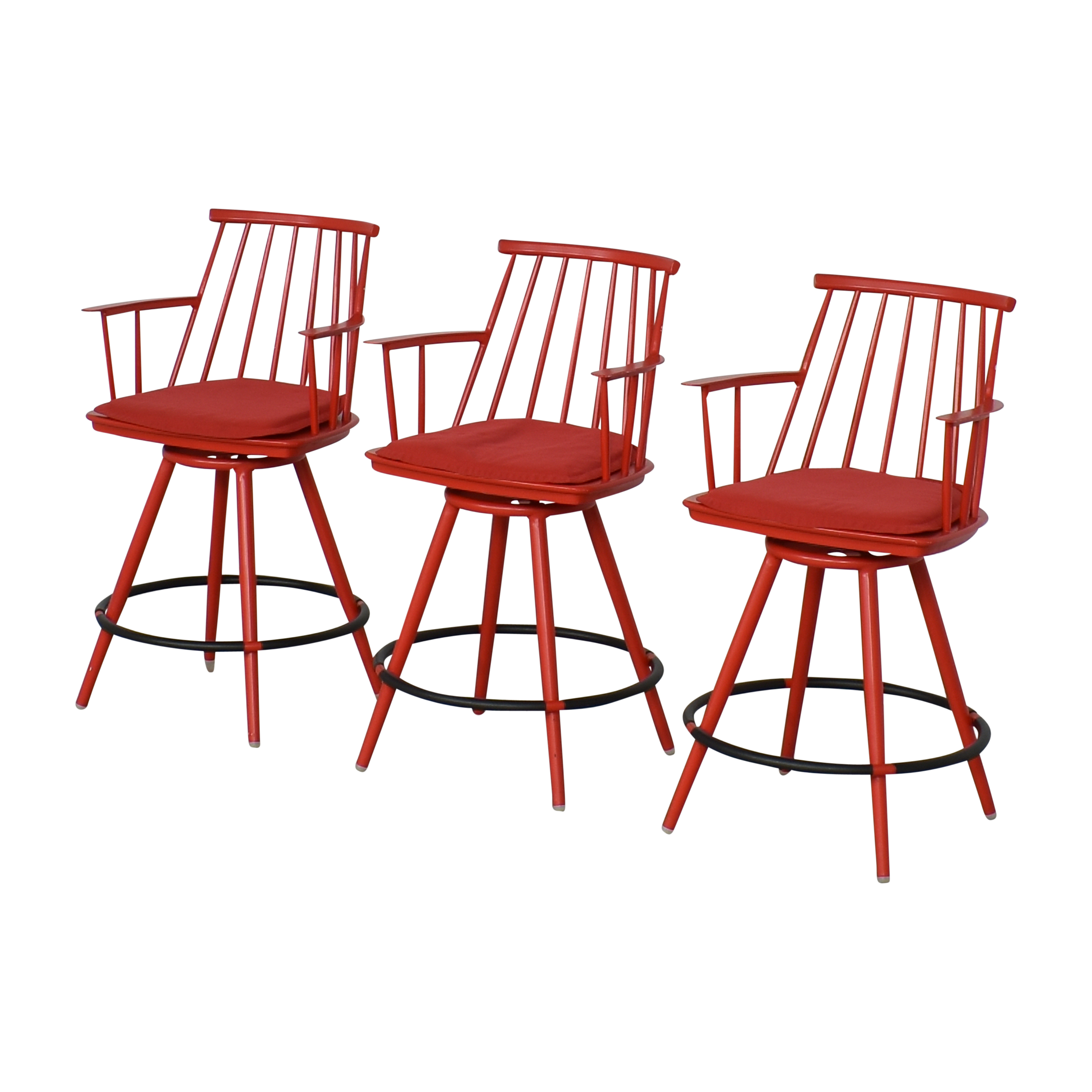 Crate & Barrel Crate & Barrel Union Swivel Counter Stools with Cushions dimensions