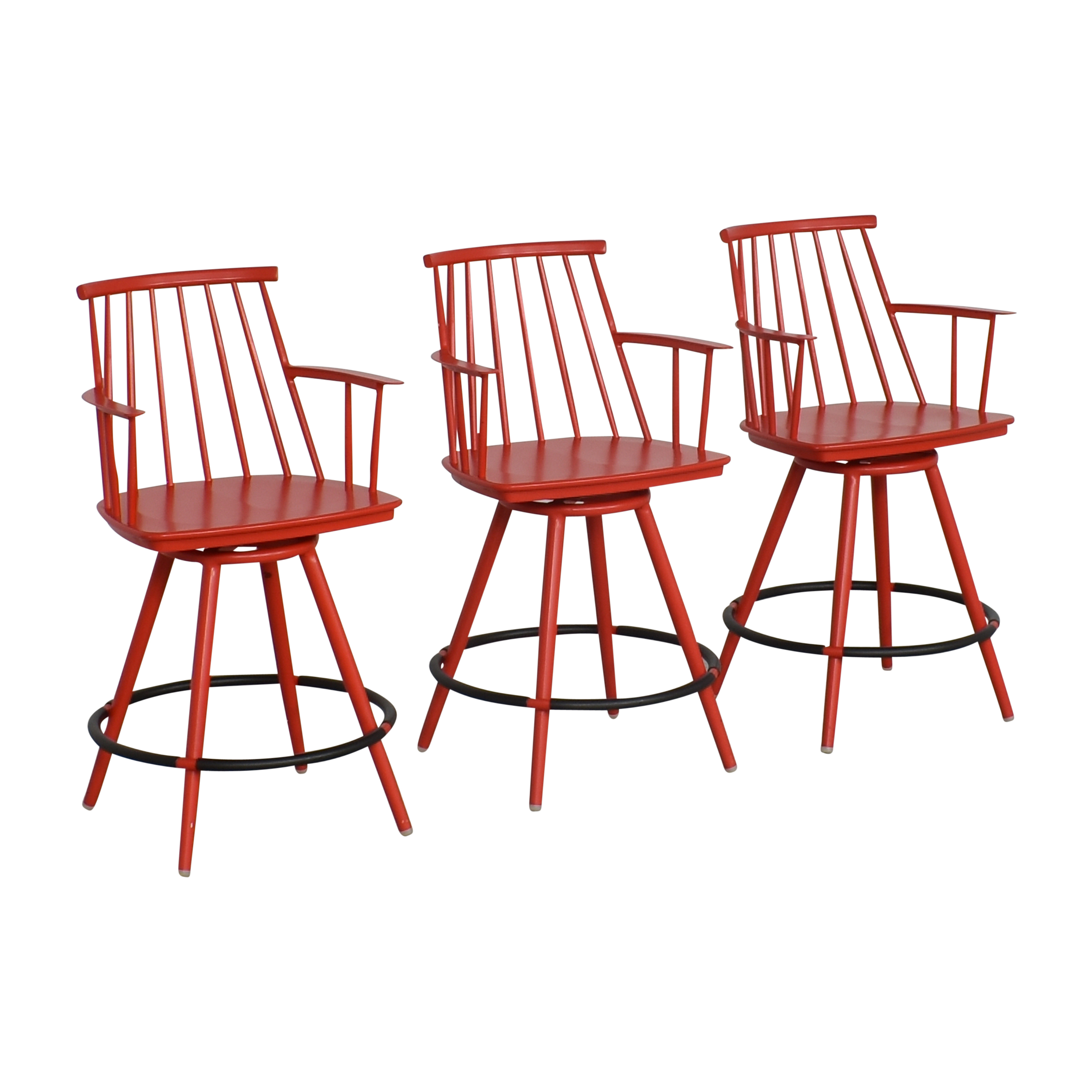 Crate & Barrel Crate & Barrel Union Swivel Counter Stools with Cushions discount