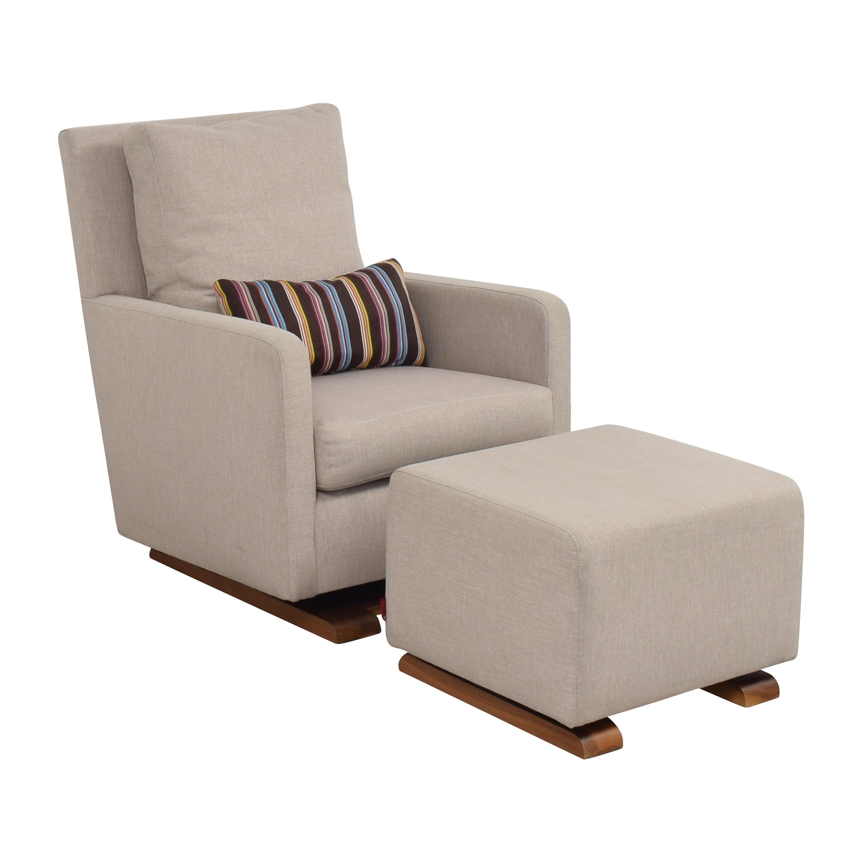 Monte Design Como Glider with Ottoman / Accent Chairs