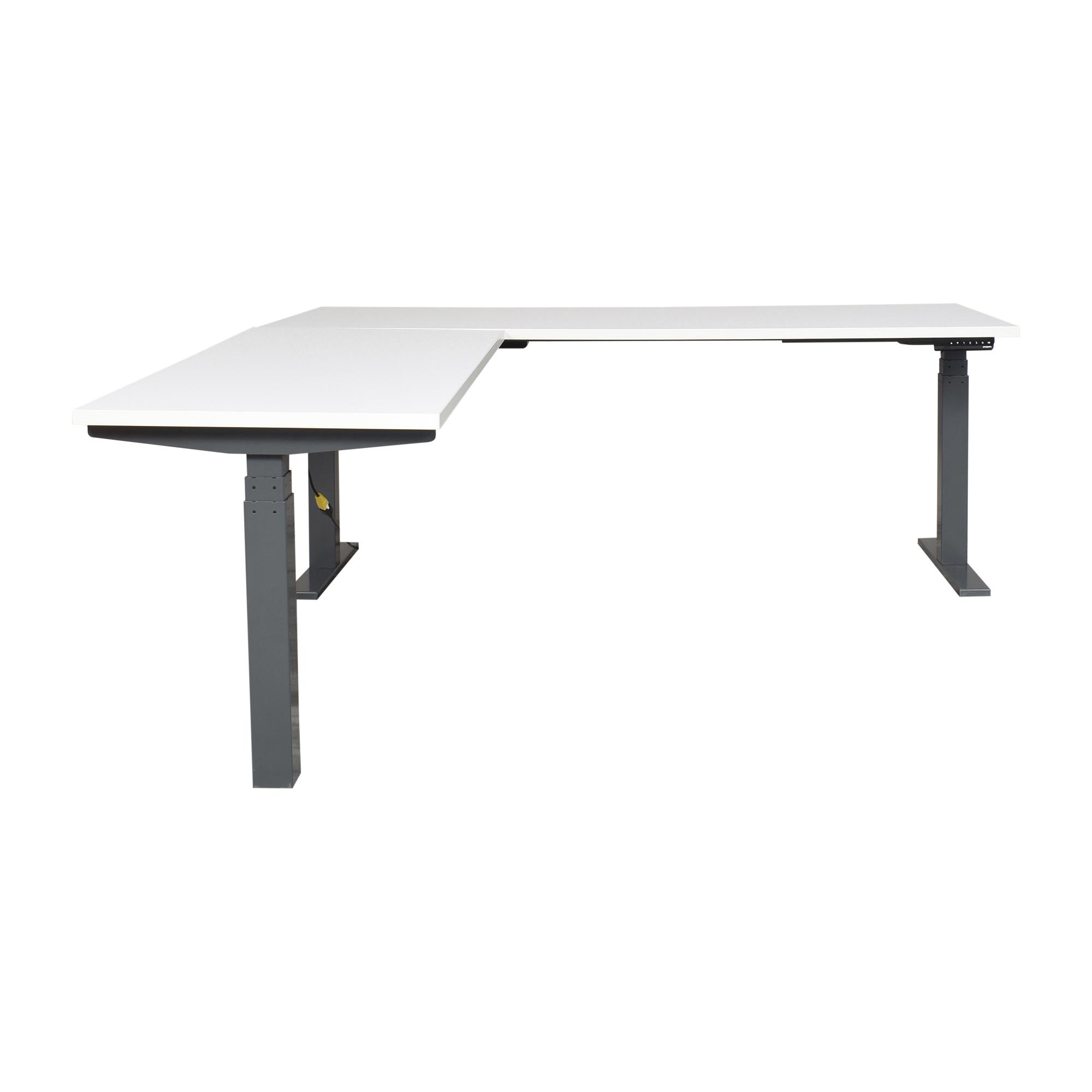 Poppin Series L Adjustable Height Corner Desk / Home Office Desks