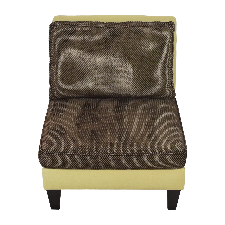 Moss Home Moss Home Cypress Slipper Chair green & brown