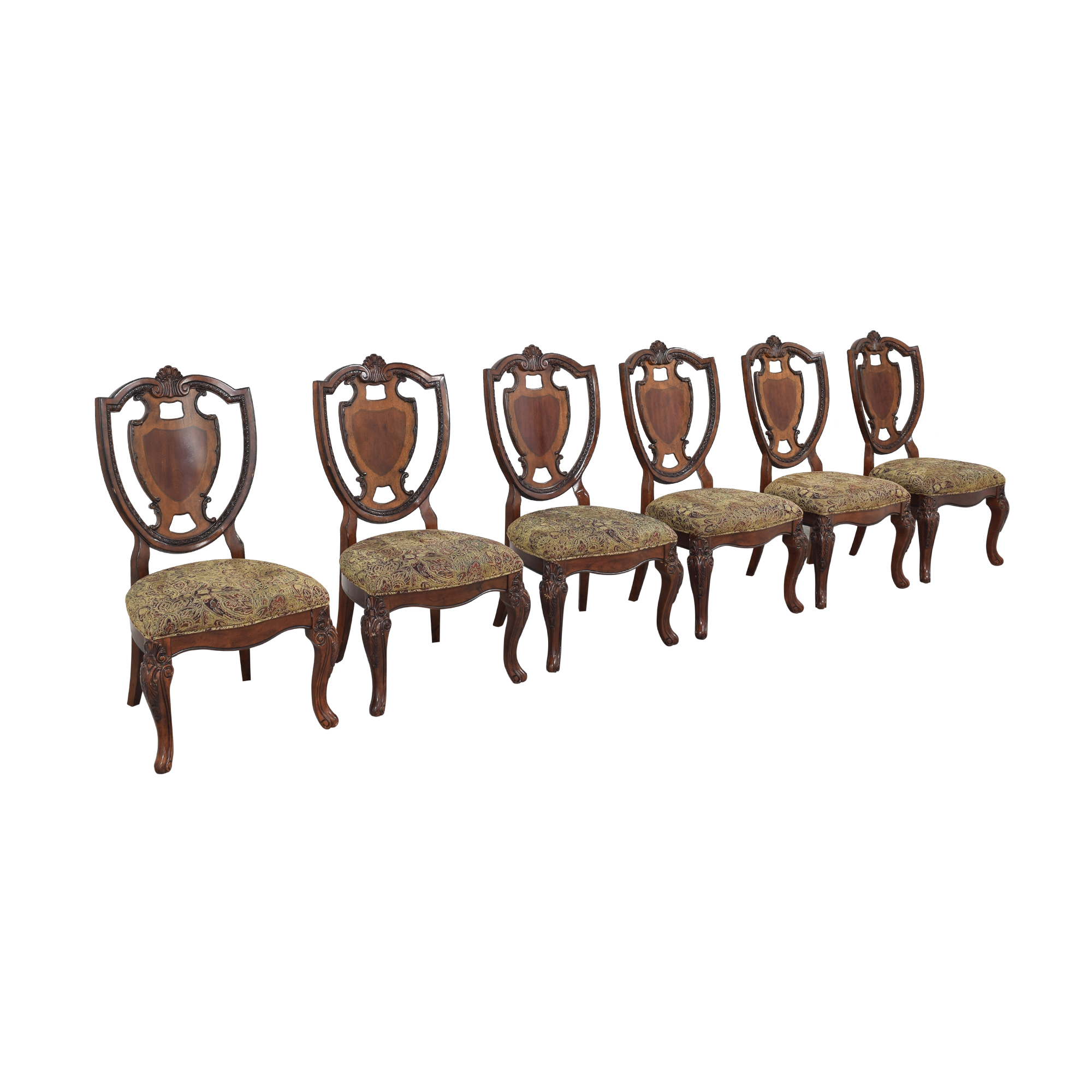 A.R.T. Furniture A.R.T. Furniture Shield Back Dining Side Chairs second hand