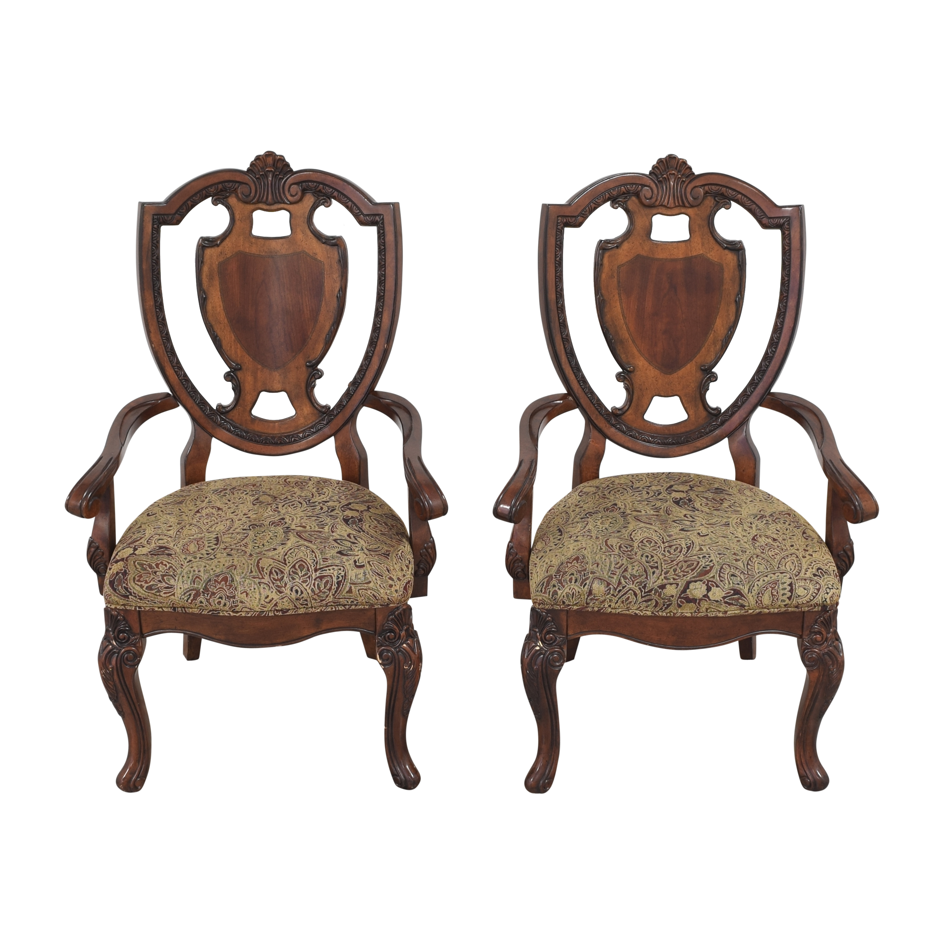 A.R.T. Furniture A.R.T. Furniture Old World Shield Back Dining Arm Chairs ct