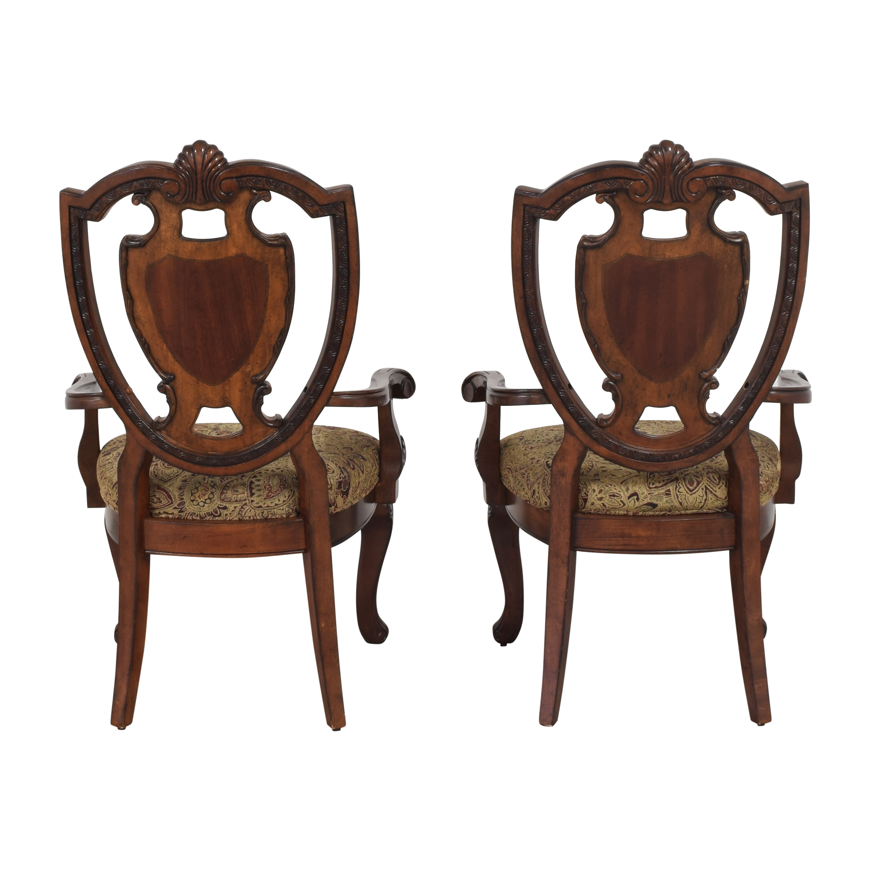A.R.T. Furniture A.R.T. Furniture Old World Shield Back Dining Arm Chairs discount
