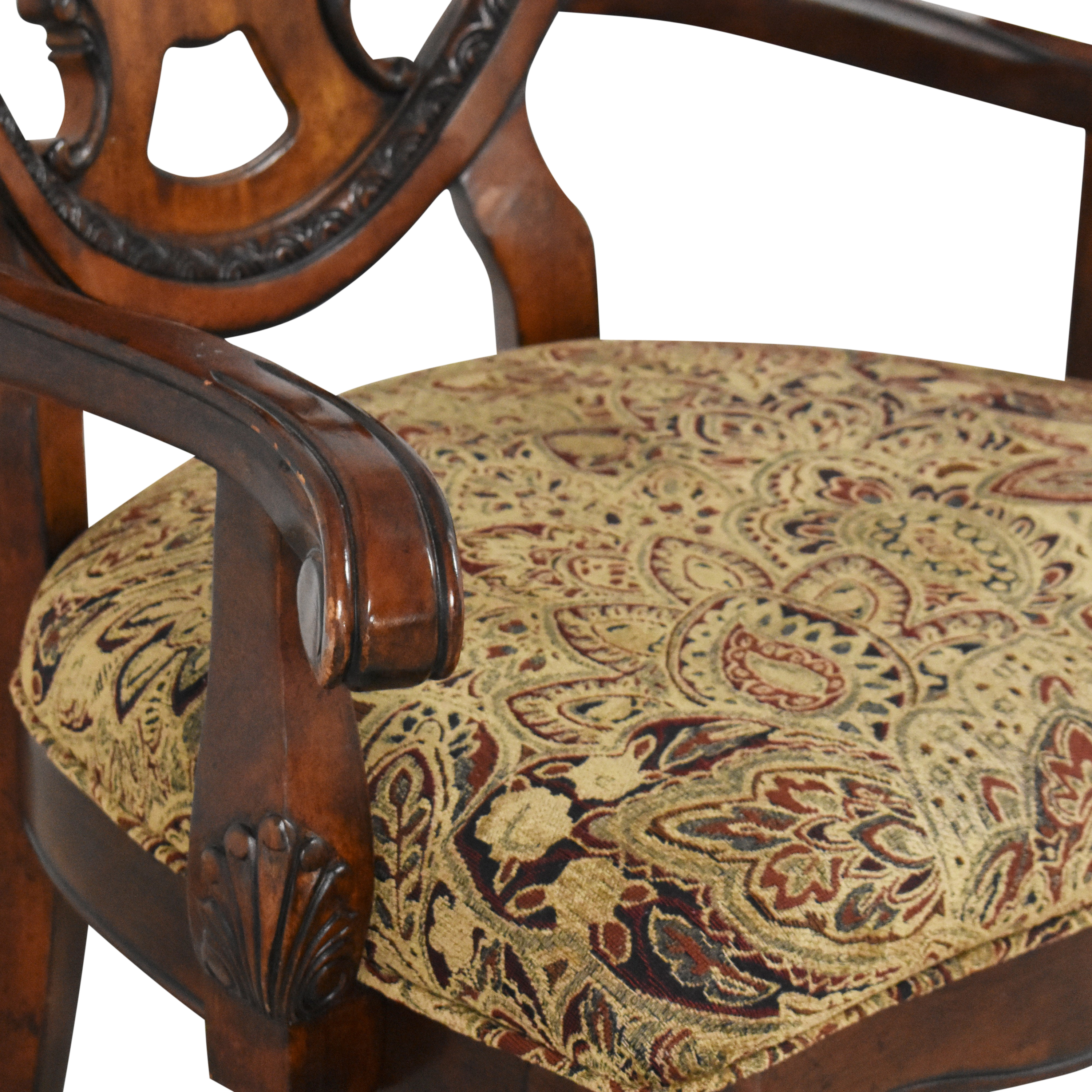 A.R.T. Furniture A.R.T. Furniture Old World Shield Back Dining Arm Chairs Chairs
