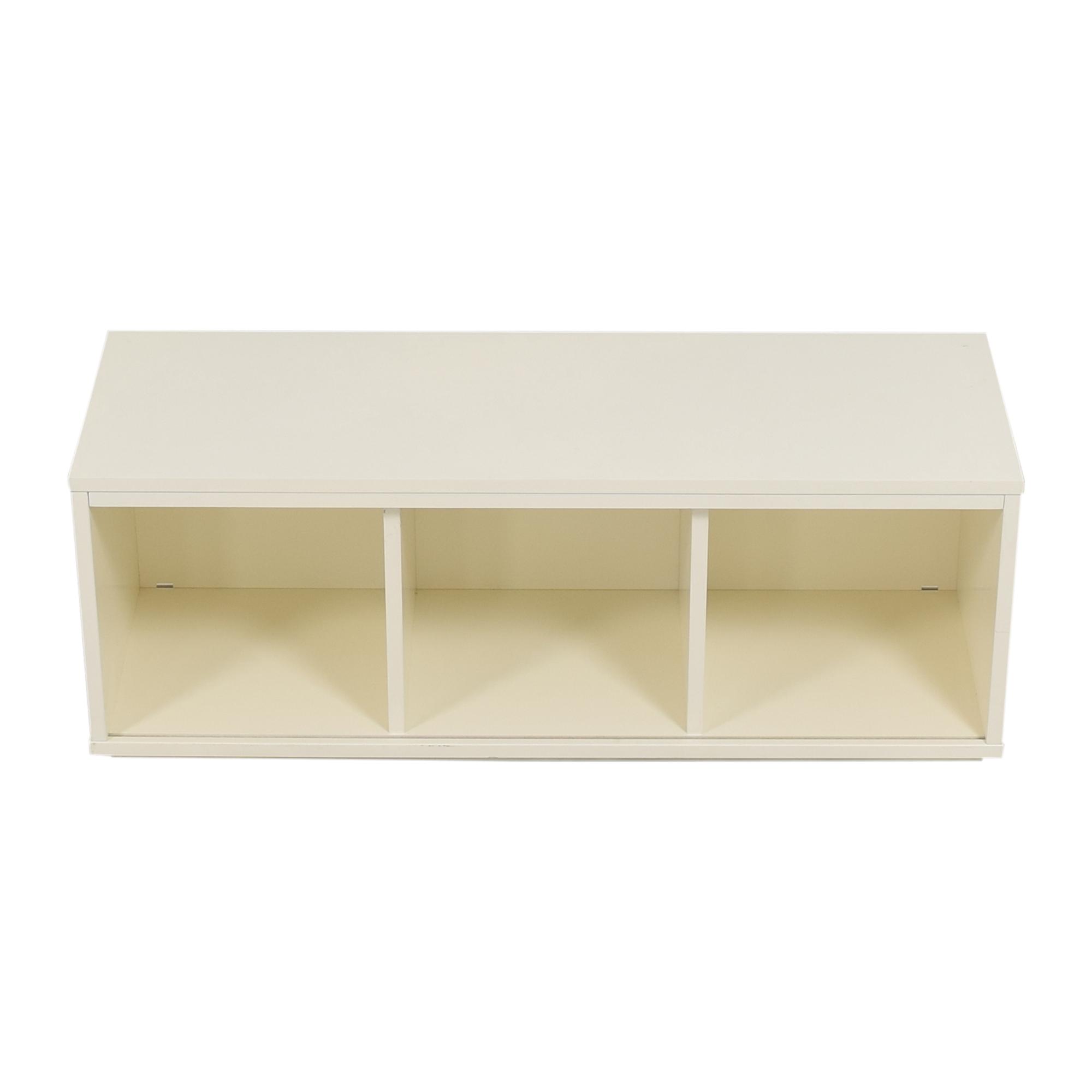 shop Crate & Barrel District Three-Cube Stackable Bookcase Crate & Barrel Bookcases & Shelving
