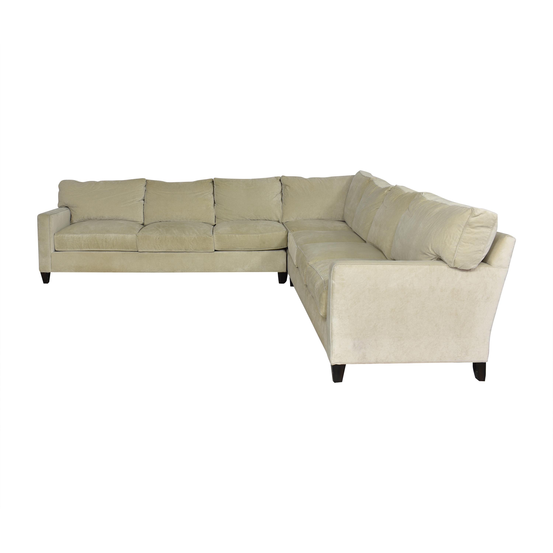 shop Century Furniture Corner Sectional Sofa Century Furniture Sectionals