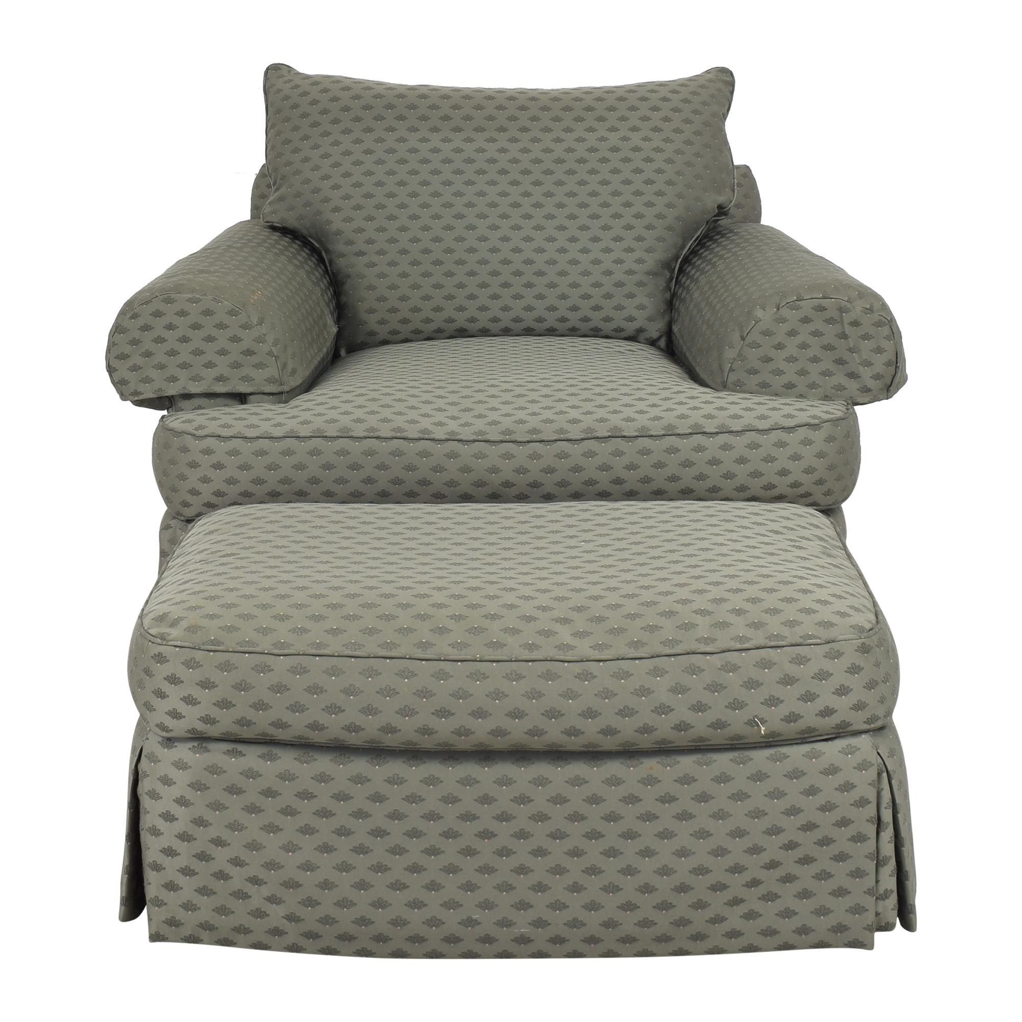 Thomasville Thomasville Skirted Chair and Ottoman