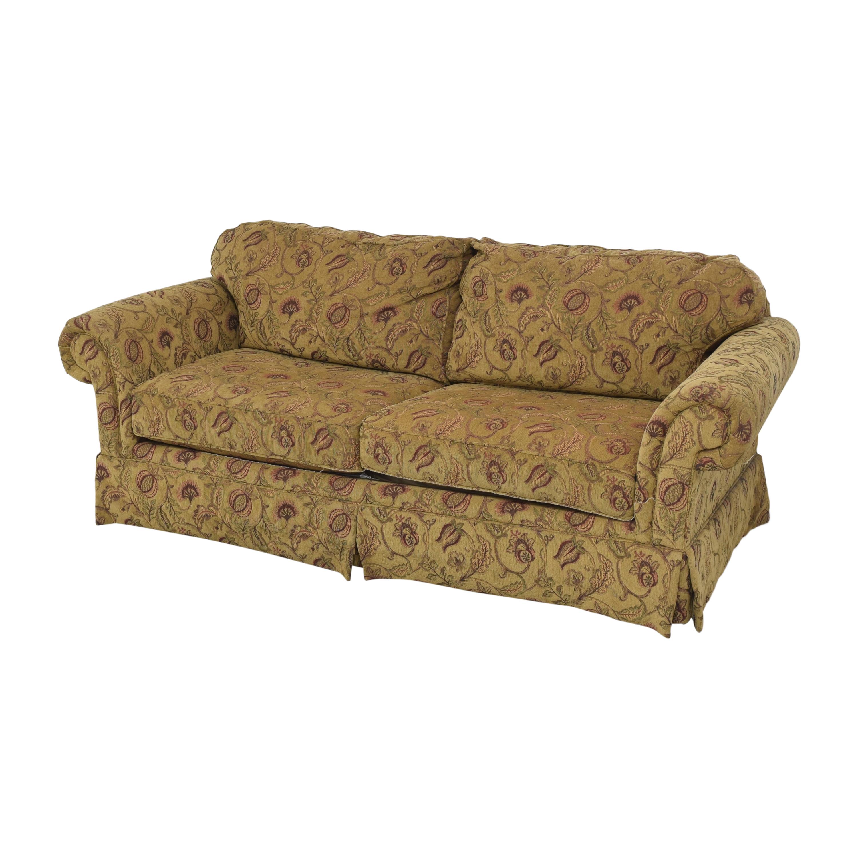 Broyhill Furniture Two Cushion Skirted Sofa Broyhill Furniture