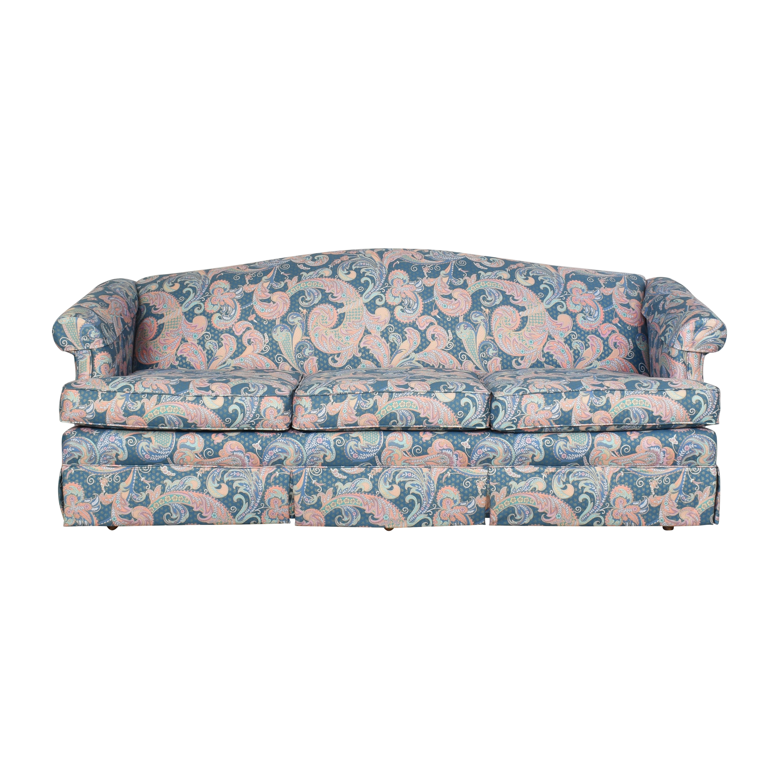 shop Choice Seating Gallery Skirted Three Cushion Sofa Choice Seating Gallery Sofas
