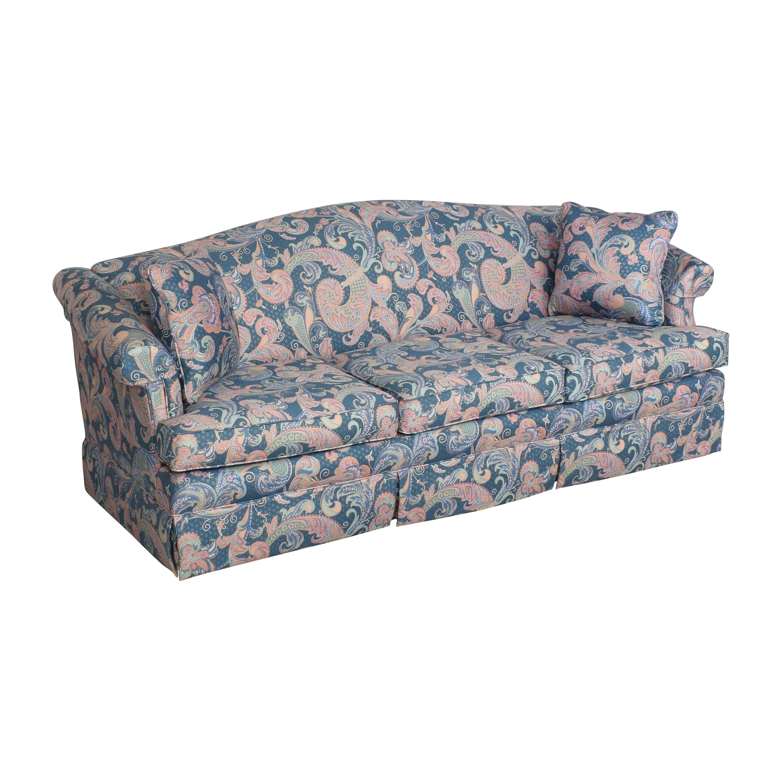 Choice Seating Gallery Choice Seating Gallery Skirted Three Cushion Sofa dimensions