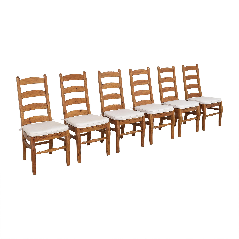 Pottery Barn Pottery Barn Wynn Ladder Back Dining Chairs dimensions