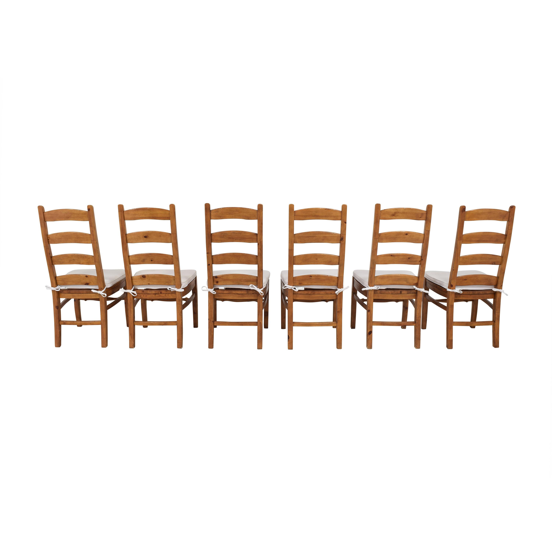 buy Pottery Barn Pottery Barn Wynn Ladder Back Dining Chairs online