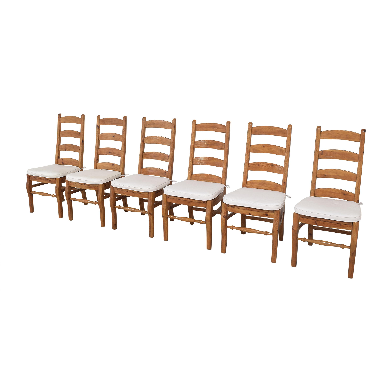 buy Pottery Barn Wynn Ladder Back Dining Chairs Pottery Barn