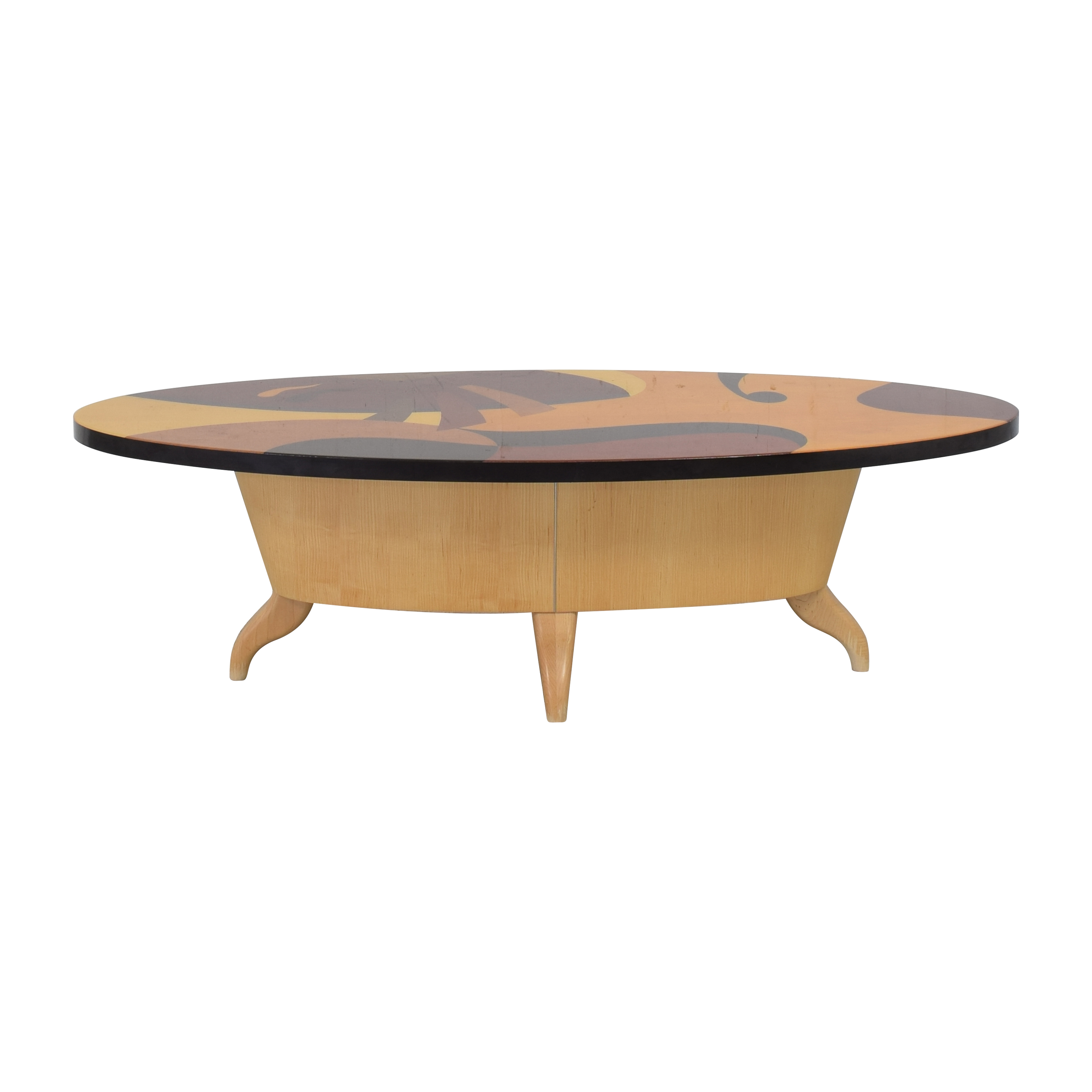 Benjamin Le-Style Abstract Oval Coffee Table nj