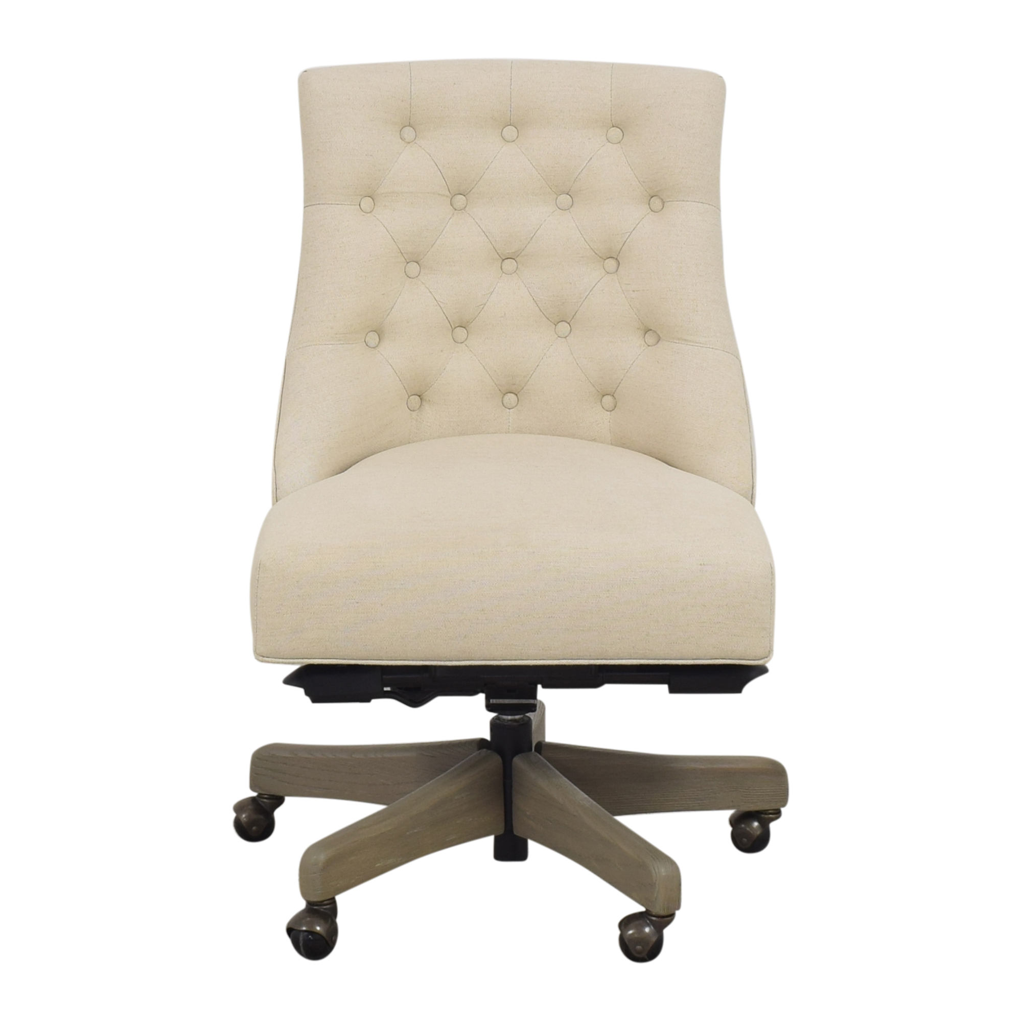 buy Pottery Barn Hayes Tufted Swivel Desk Chair Pottery Barn Home Office Chairs