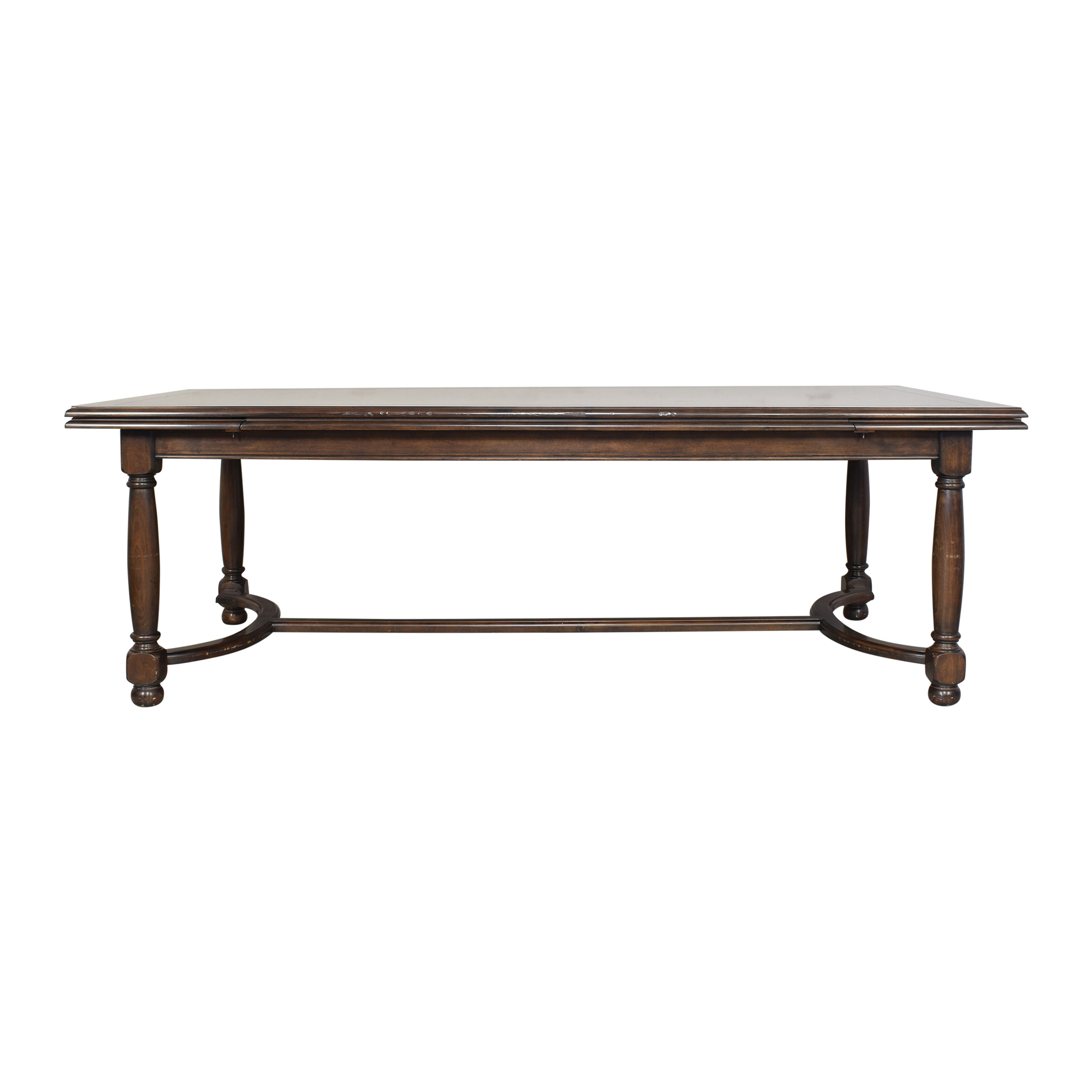 Custom Extendable Trestle Dining Table ct
