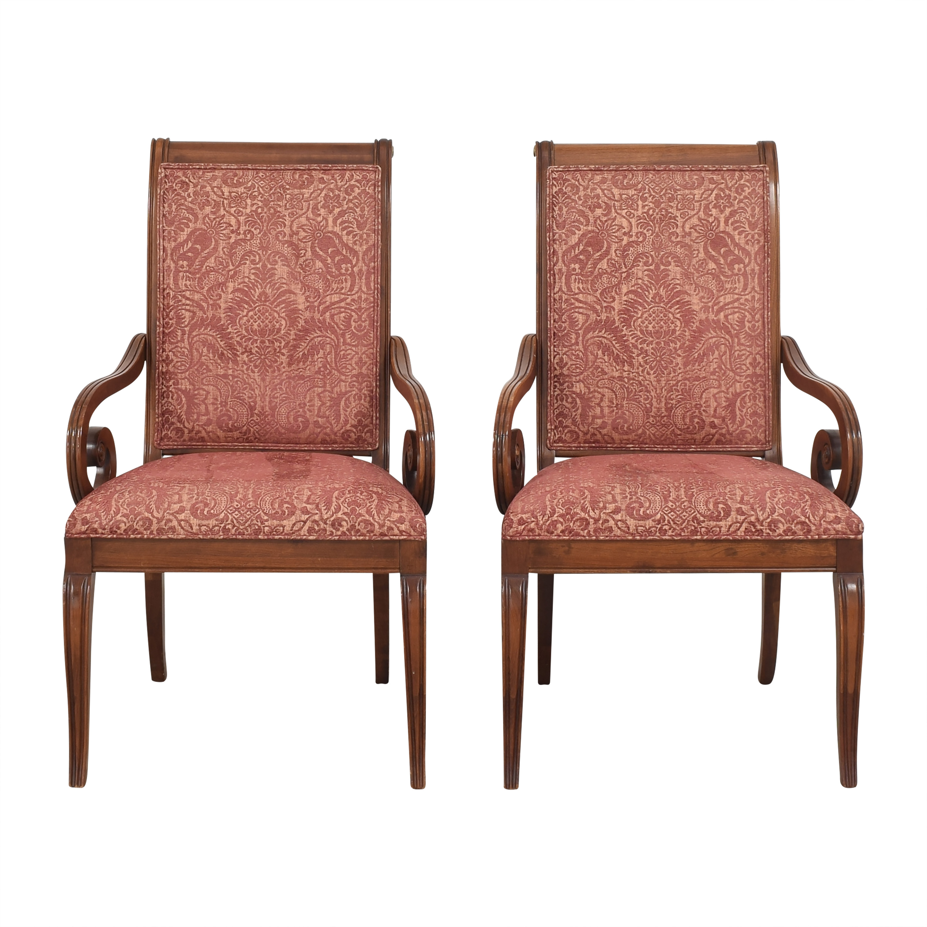 shop Ethan Allen Upholstered Dining Arm Chairs Ethan Allen Dining Chairs