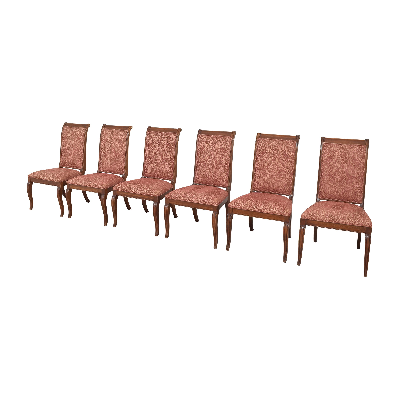 shop Ethan Allen Upholstered Dining Side Chairs Ethan Allen Dining Chairs
